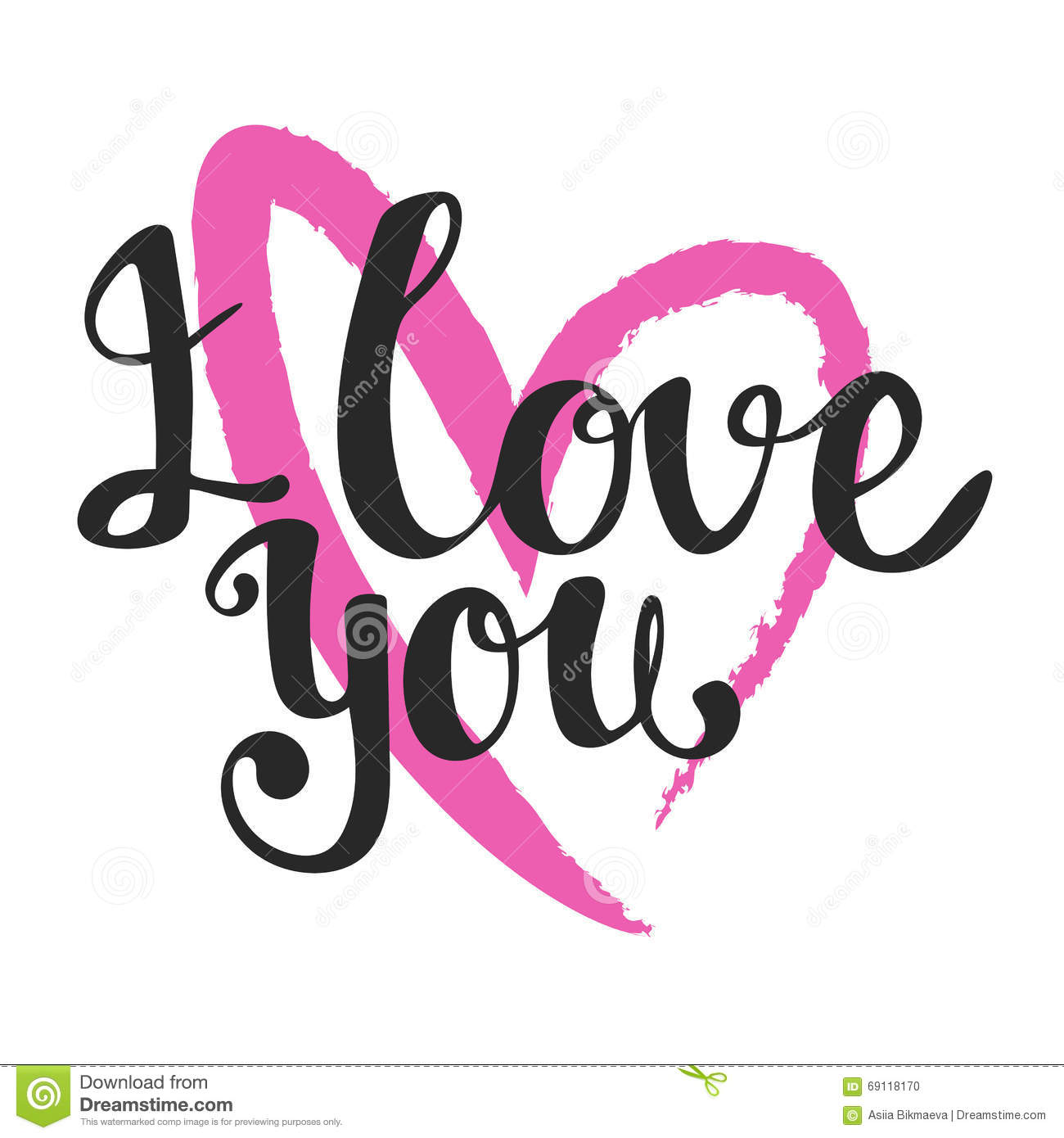 Download I Love You Lettering Vector Art Hand Drawn Y