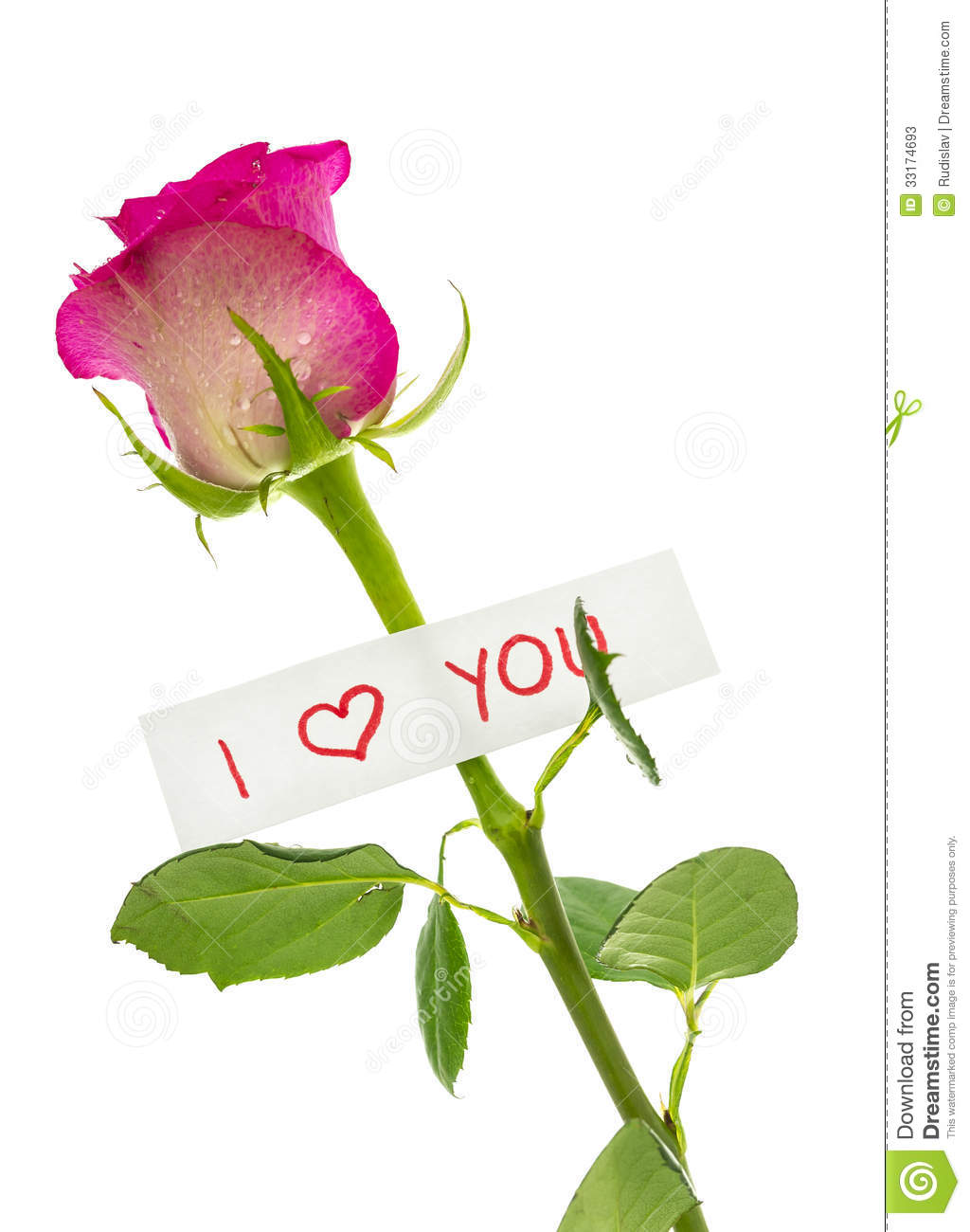 I Love You Message Stock Photos - Image: 33174693