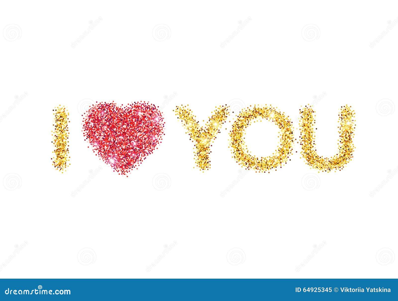 i love you heart glitter - photo #30