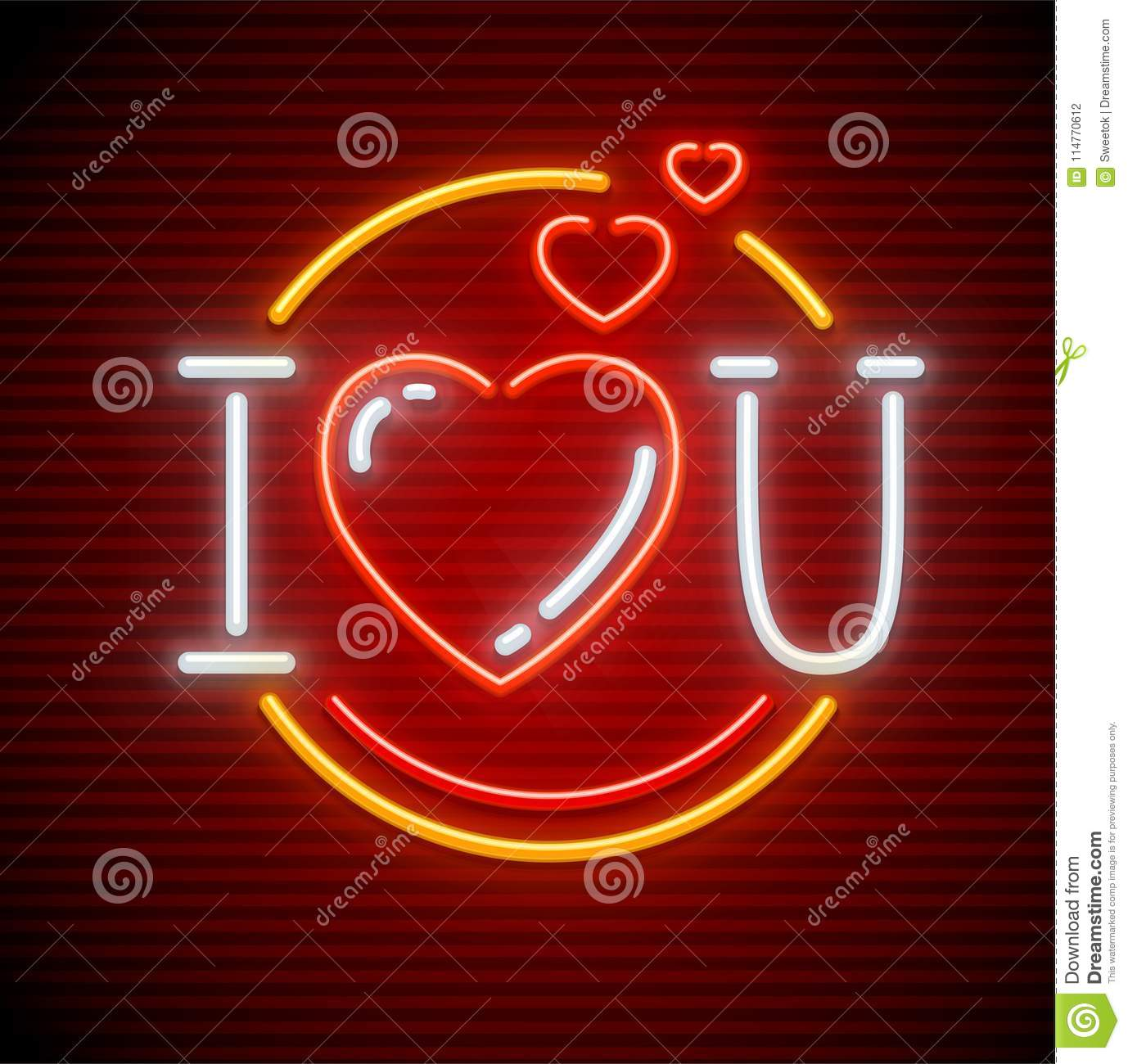 I Love You Message Made Of Hearts Stock Vector Illustration Of