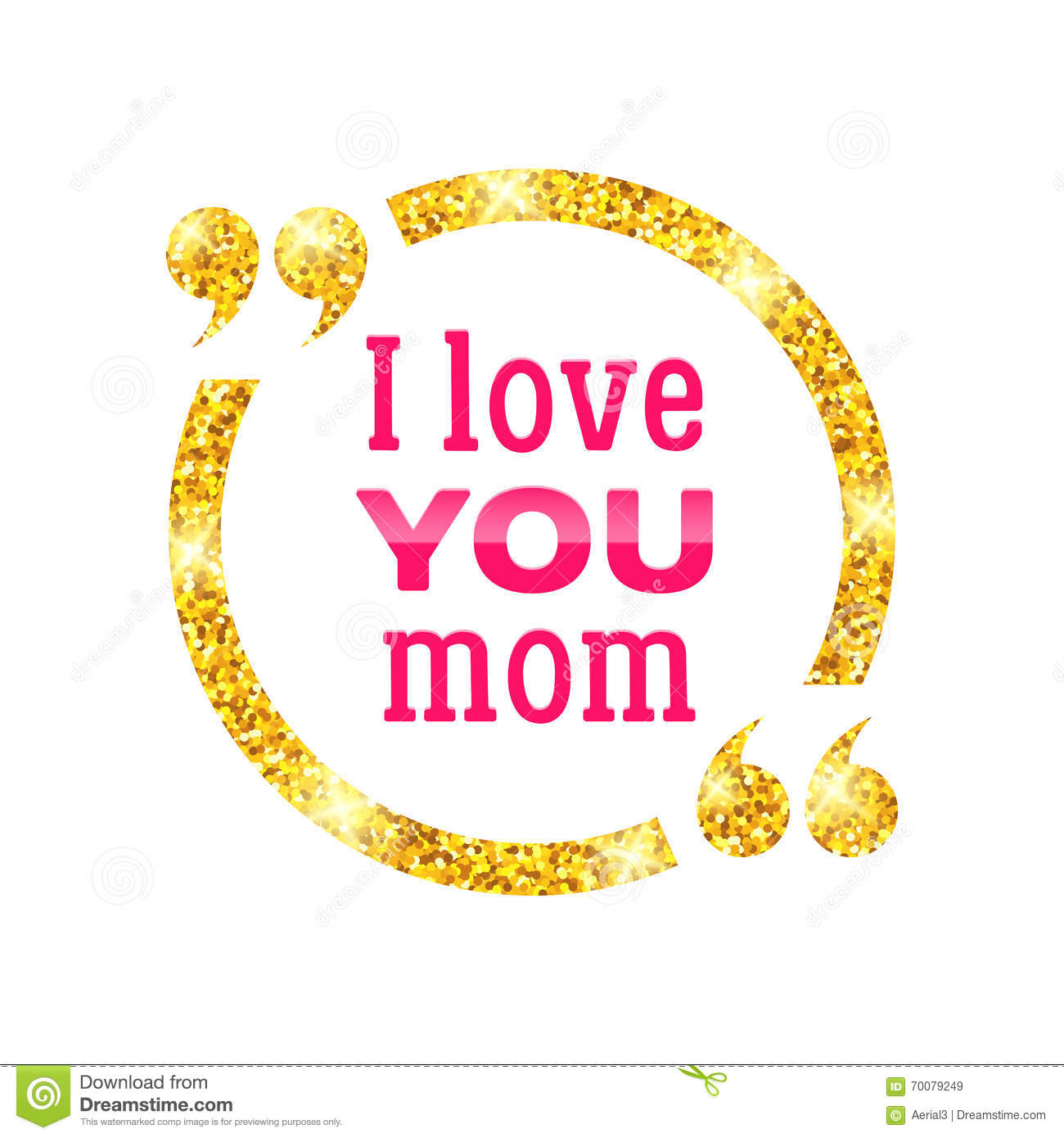 Royalty Free Vector Download I Love You Mom