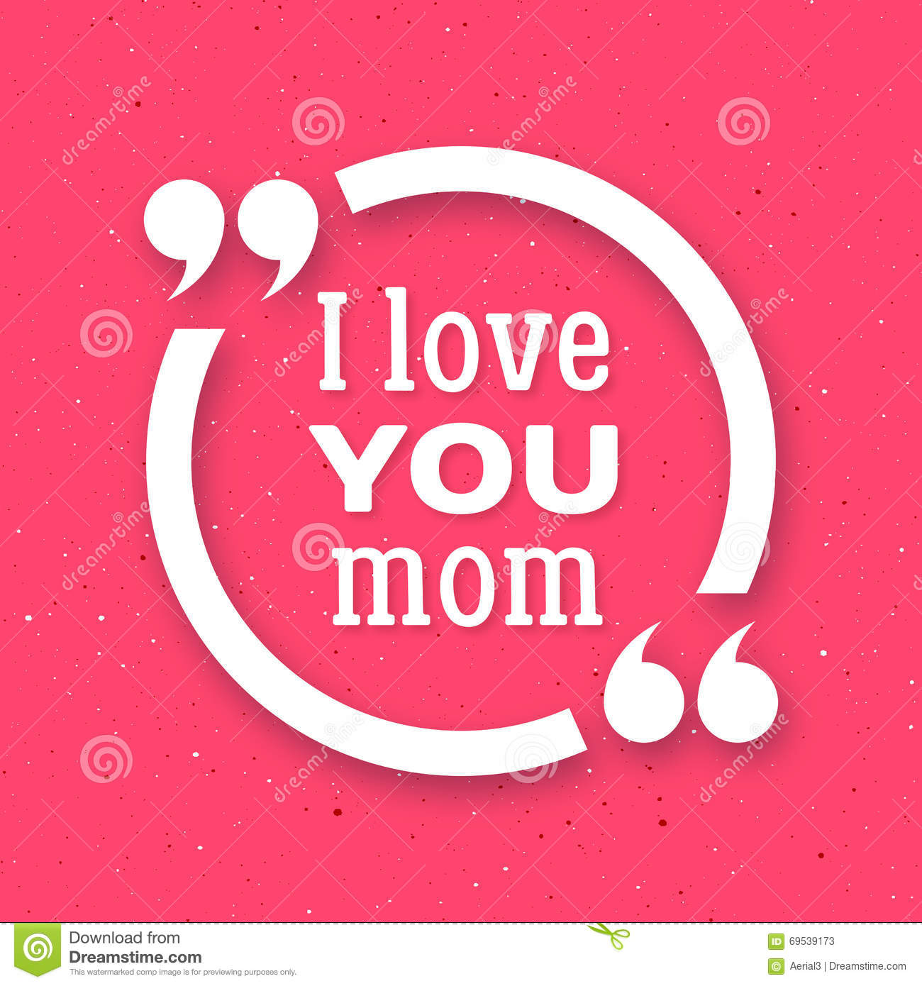 I Love You Mom Happy Mother Day Background Stock Vector
