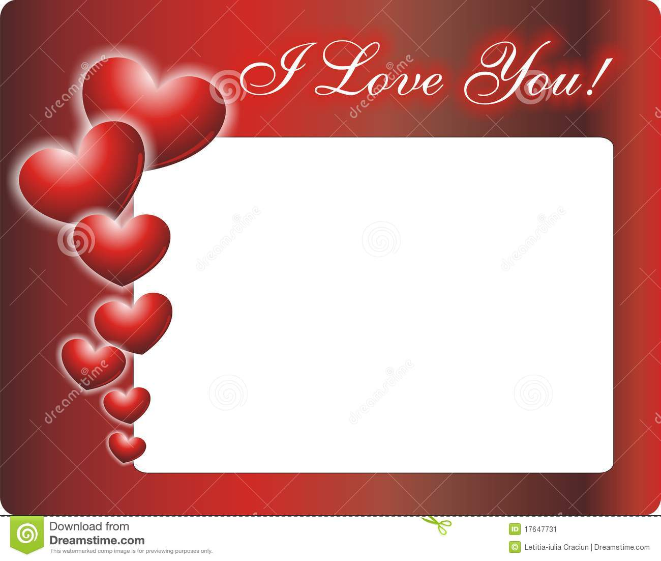 Love You Photo Frame Stock Image - Image: 17647731