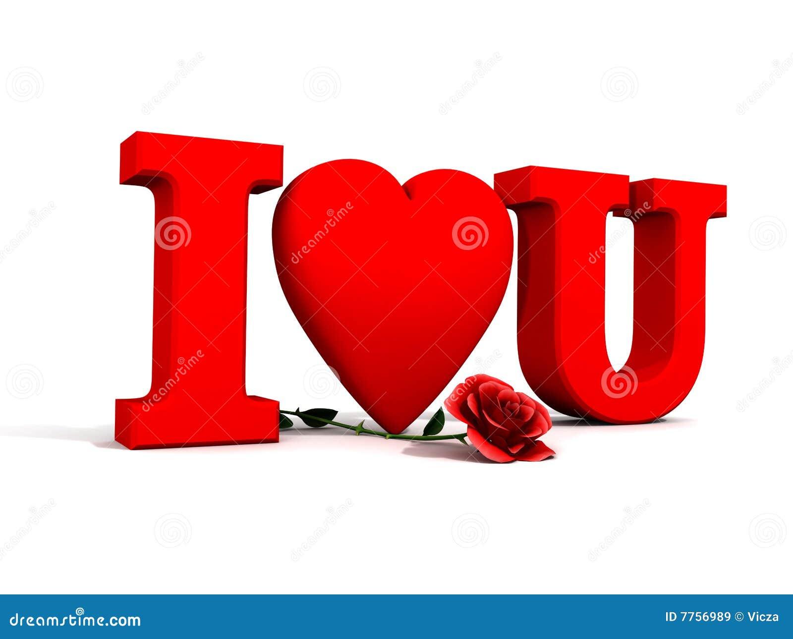 I Love You And Rose Stock Illustration Illustration Of Rose 7756989