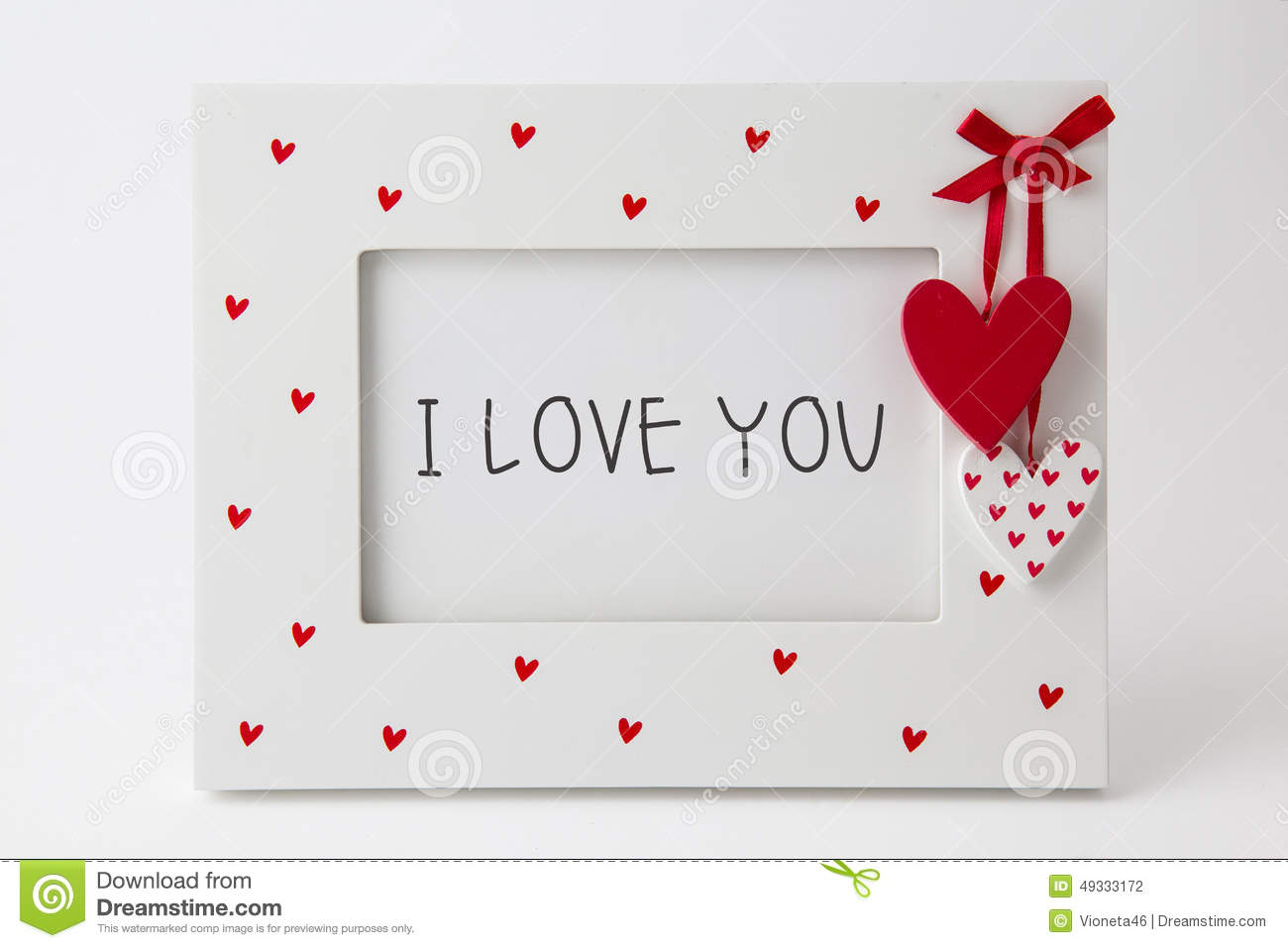 I love you text in frame isolated on white stock photo image of i love you text in frame isolated on white jeuxipadfo Gallery