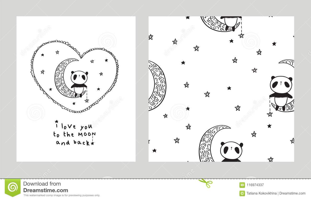 I Love You To The Moon And Back Stock Illustration Illustration