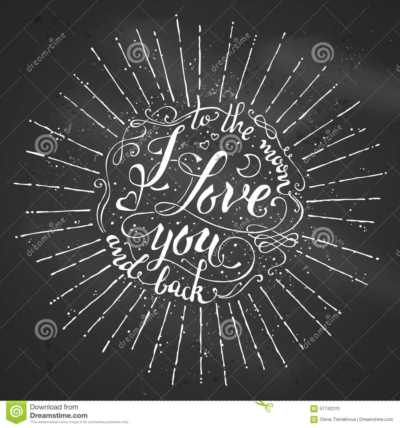 I love you to the moon and back stock vector image for I love to design
