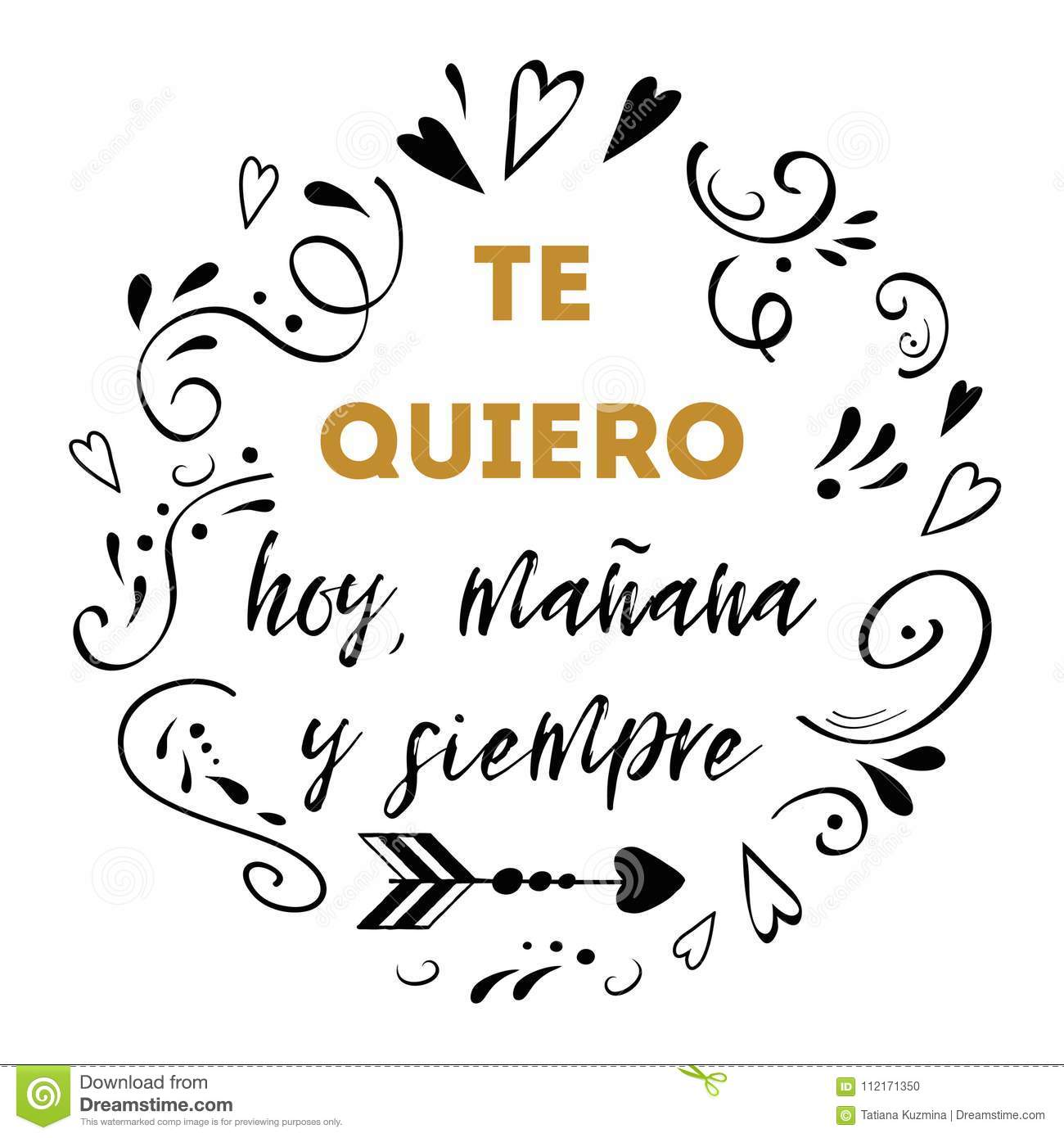 I Love You Today, Tomorrow And Forever Spanish Text -2341
