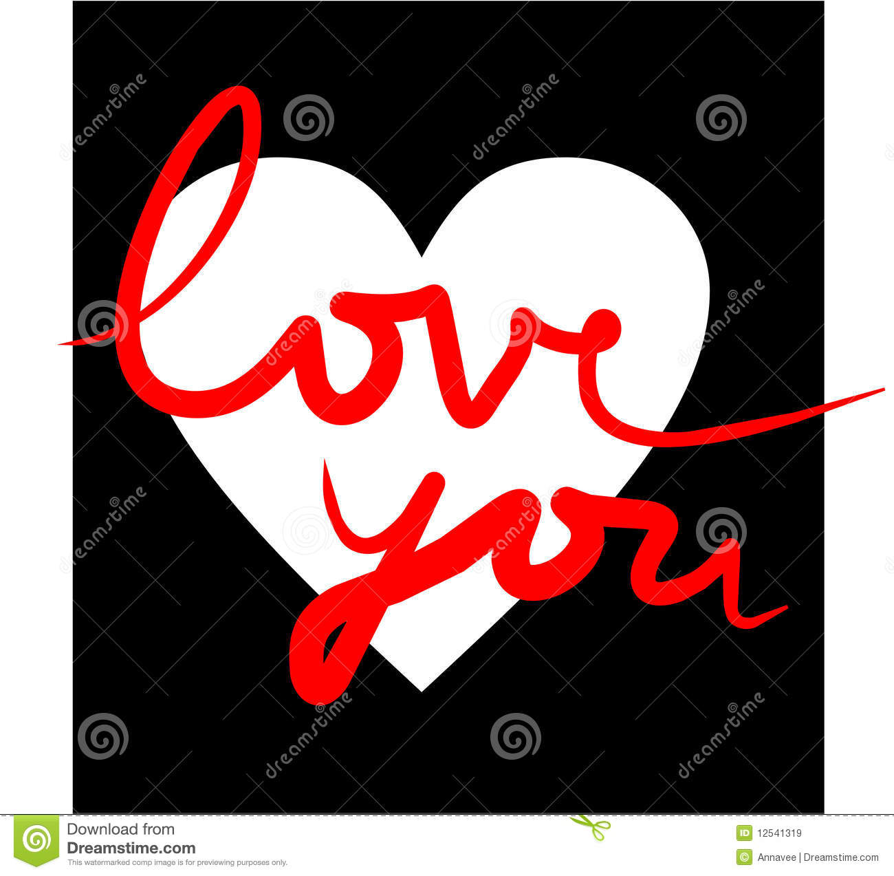 I love you in white black and red royalty free stock for Arredamento bianco nero e rosso