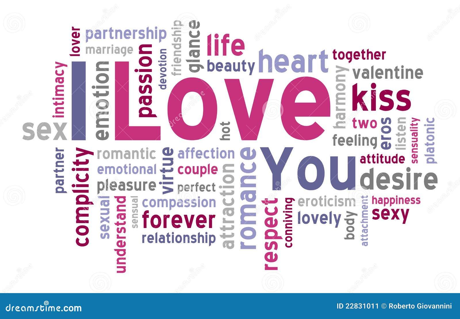 I Love You Word Cloud