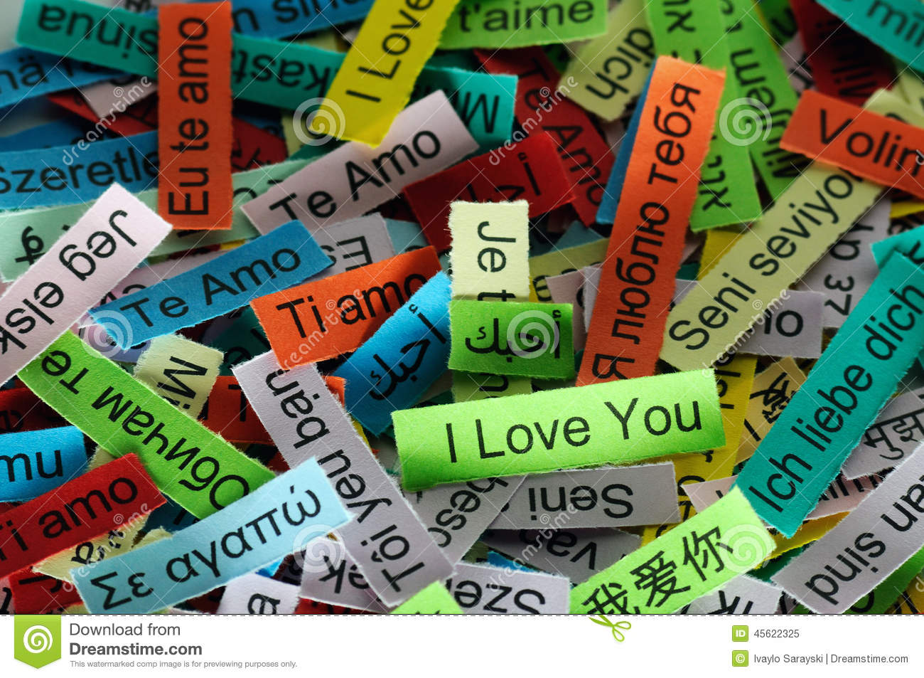 i love you stock image image of greeting message spanish 45622325