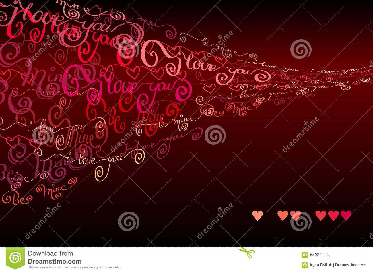 I Love You Words Background Valentines Card Vector Image – Valentines Words for Card