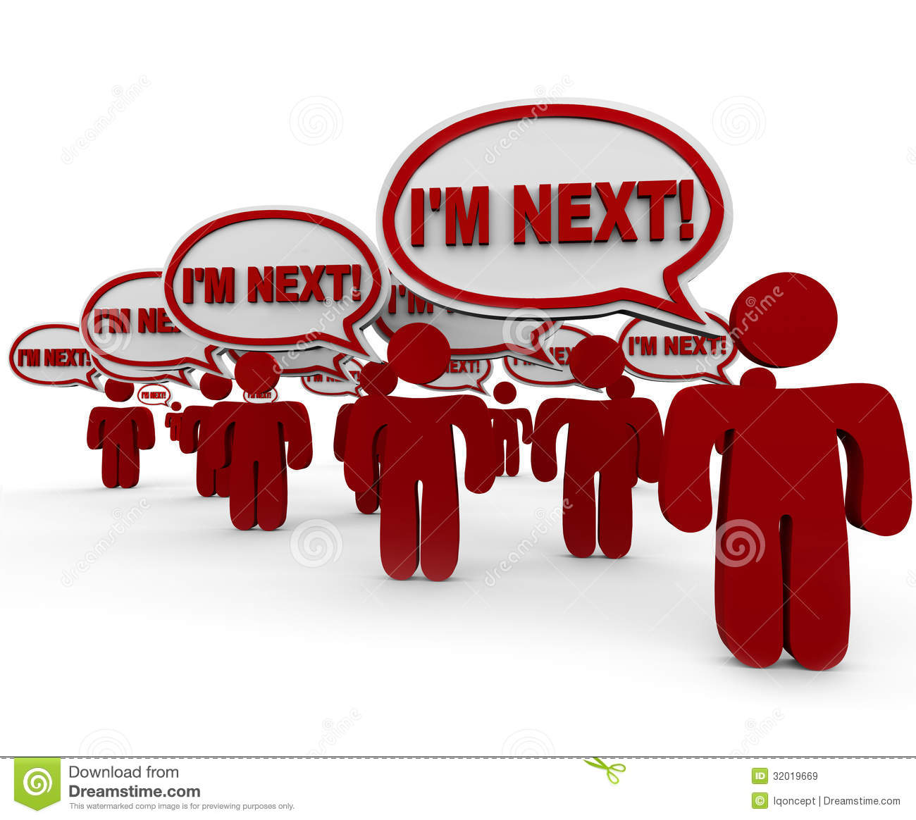 I m Next People Customers Waiting in Line Service Support
