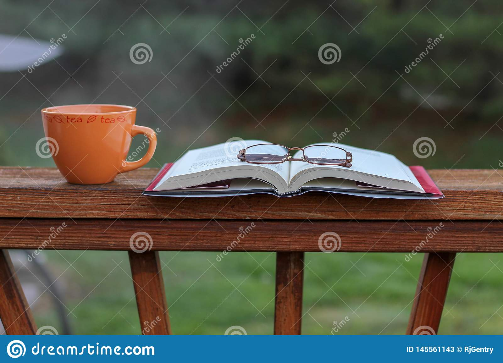 I'm starting my day with a good book and a cup of tea