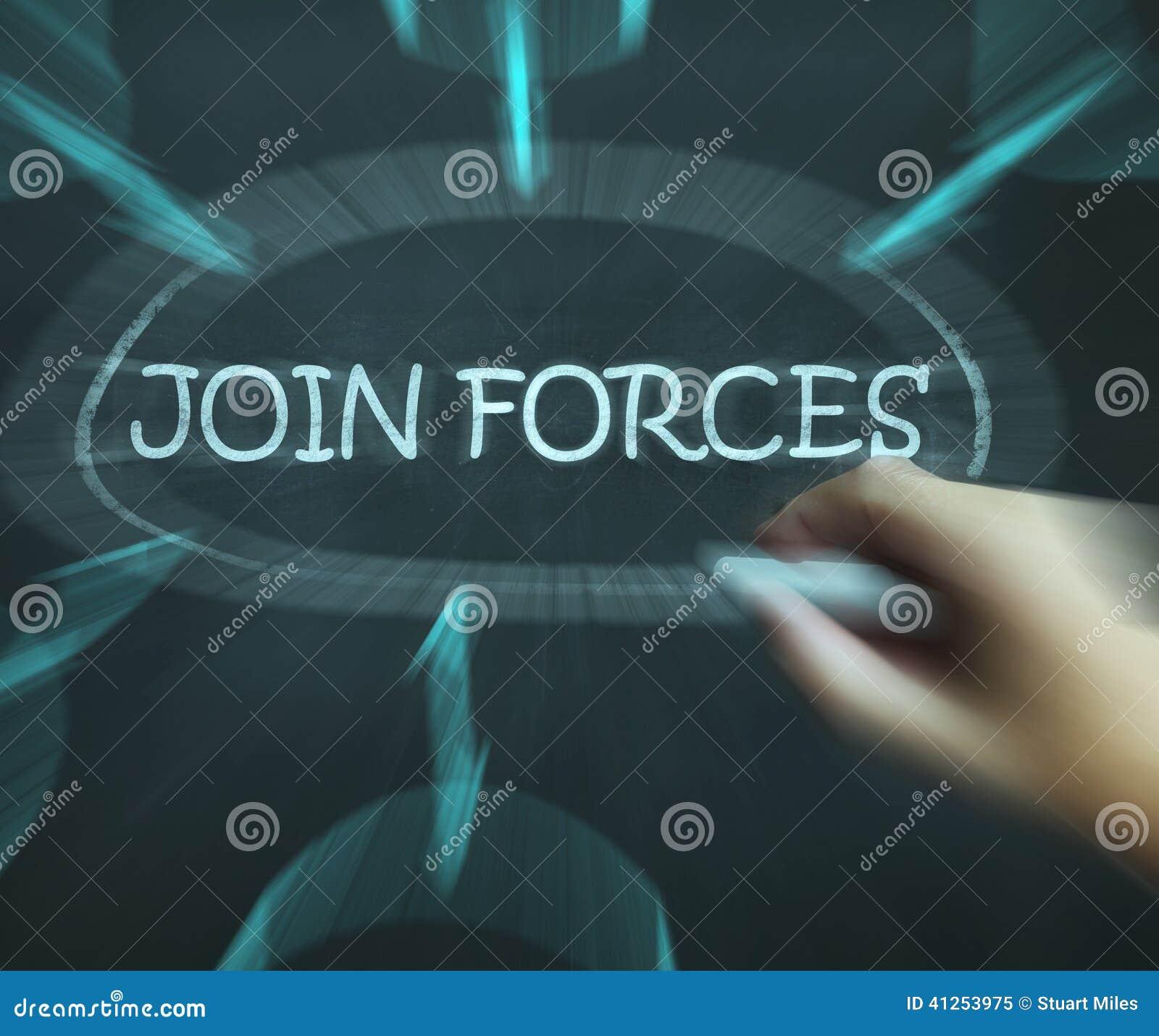 I mezzi del diagramma delle forze dell unire funzionano insieme ed associazione