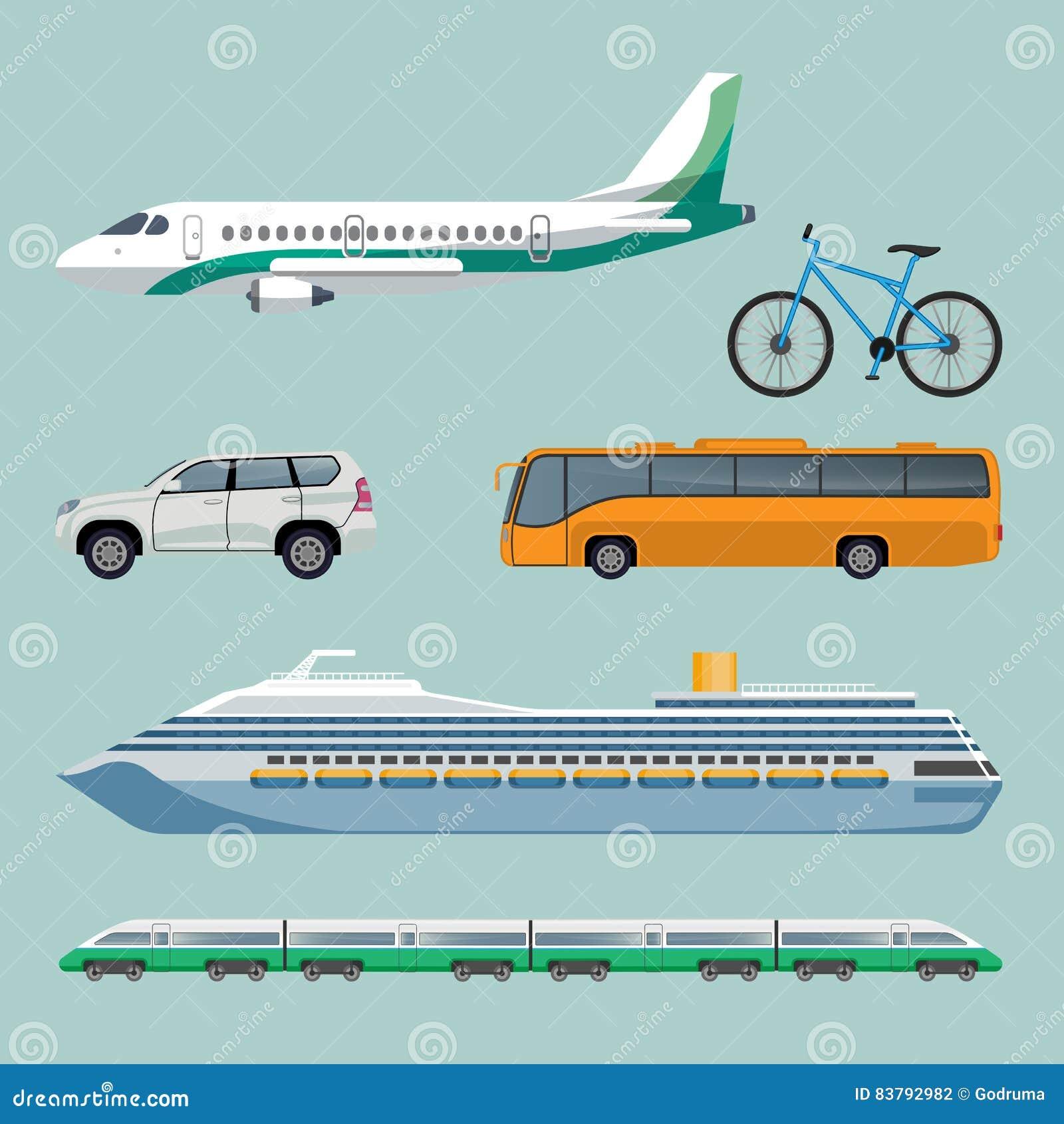 I mezzi di trasporto veloci hanno messo degli oggetti for Oggetti moderni