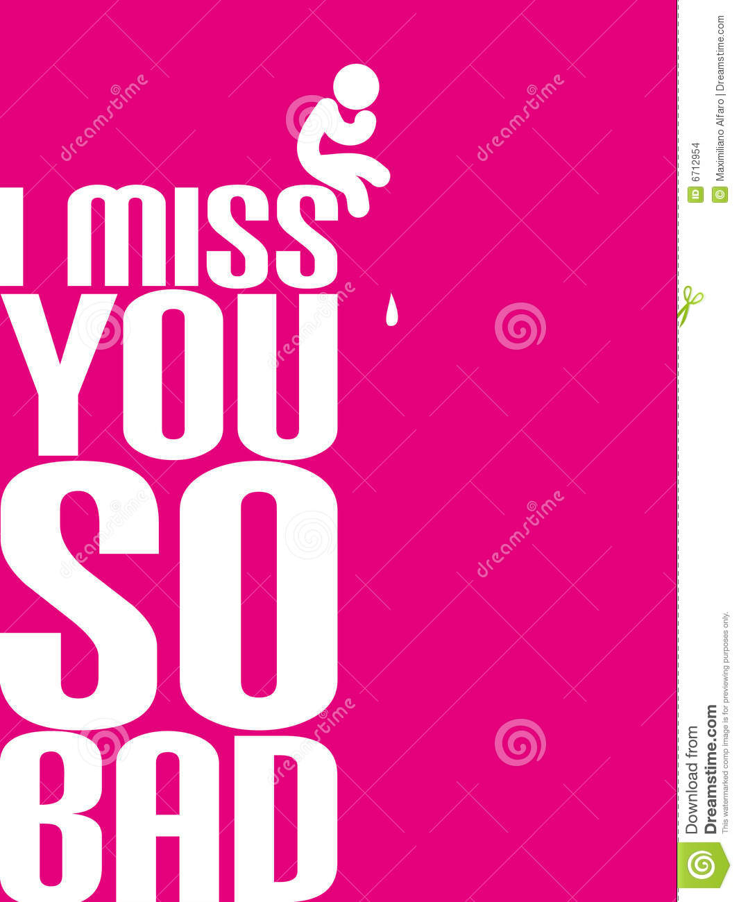 I Miss You So Bad Stock Illustration Illustration Of Frown 6712954