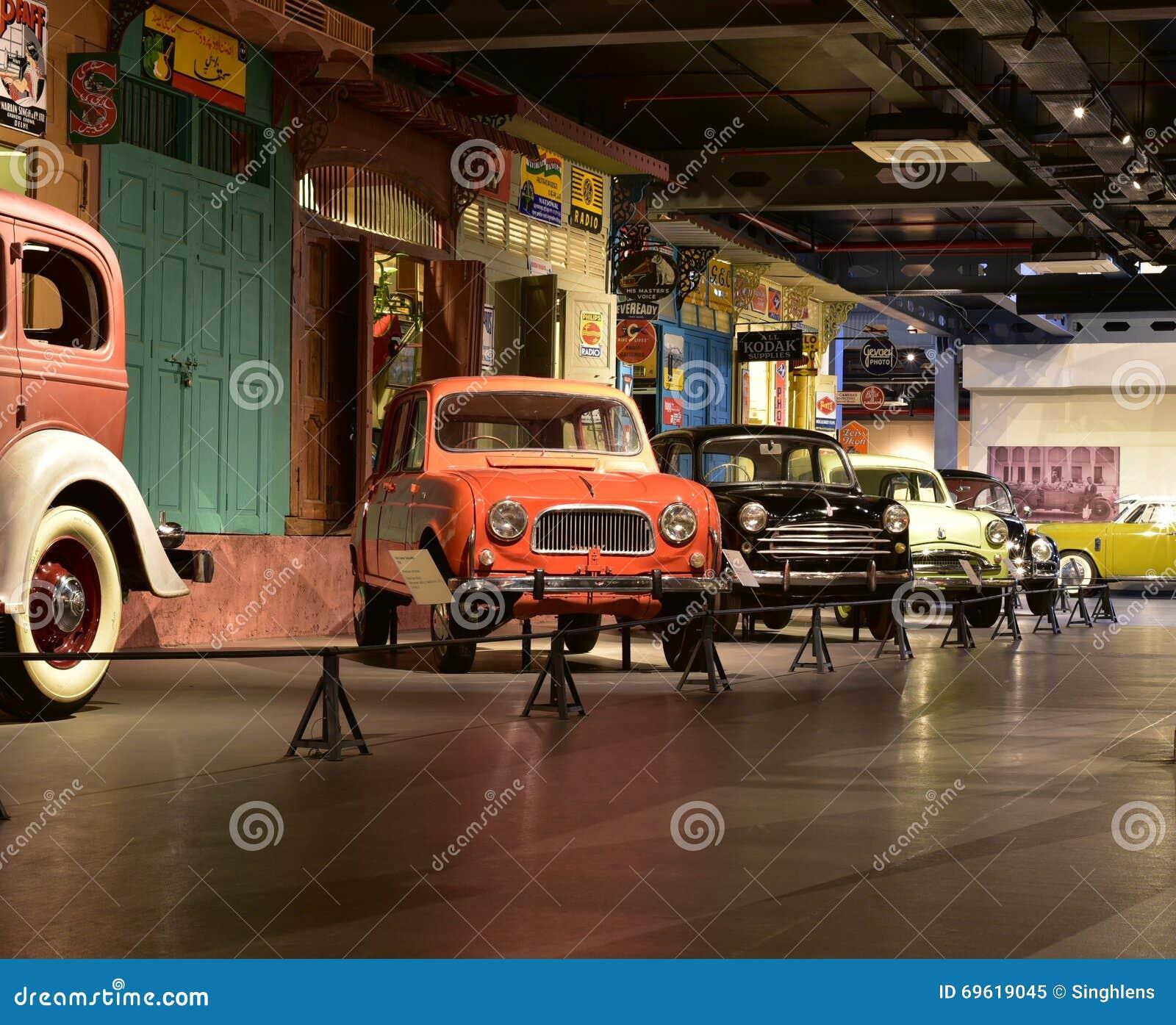 I modelli dell automobile di eredità nell eredità trasportano il museo in Gurgaon, India
