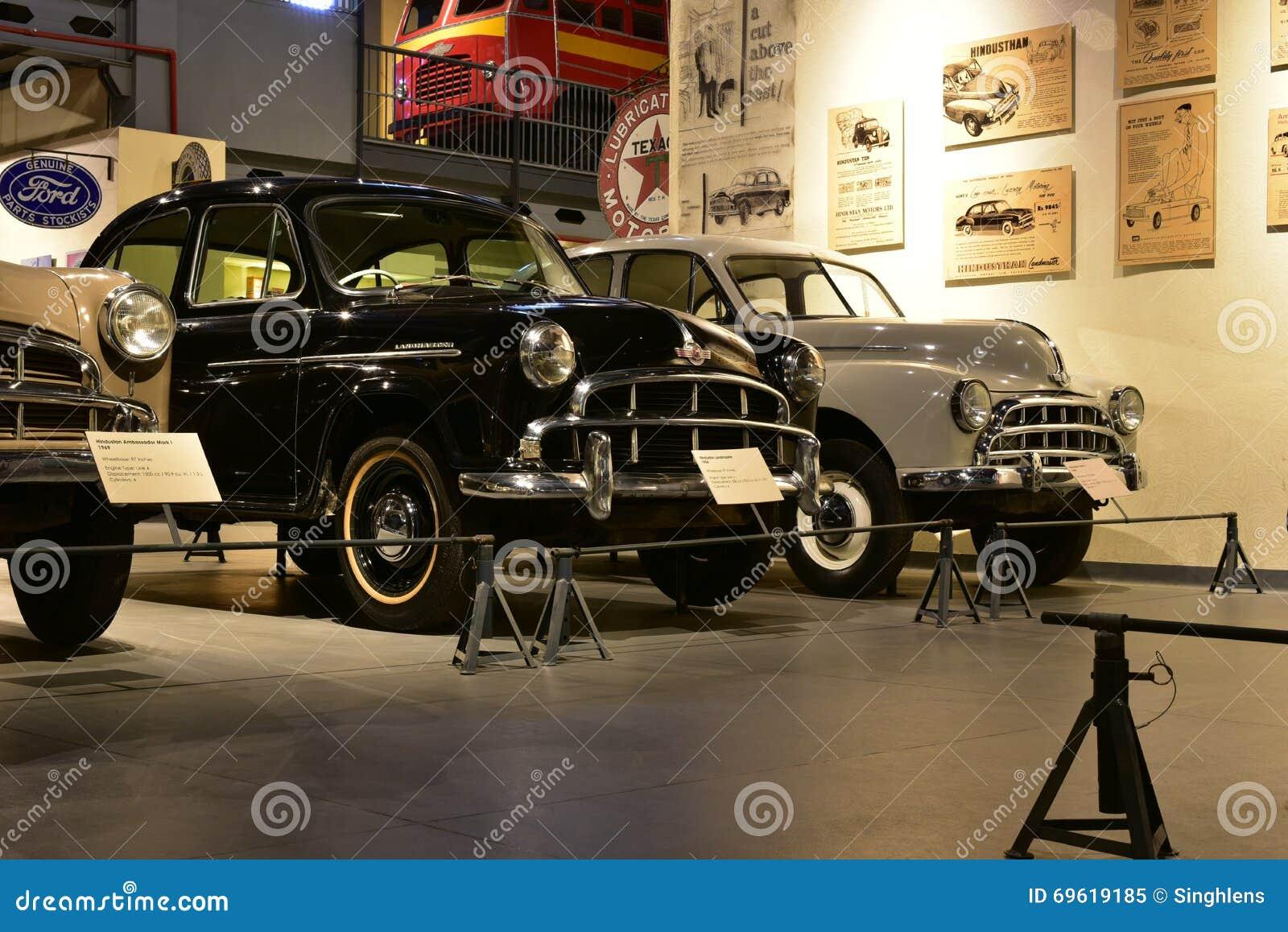 I modelli dell automobile di Hindustan modellano nel museo del trasporto di eredità in Gurgaon, Haryana India