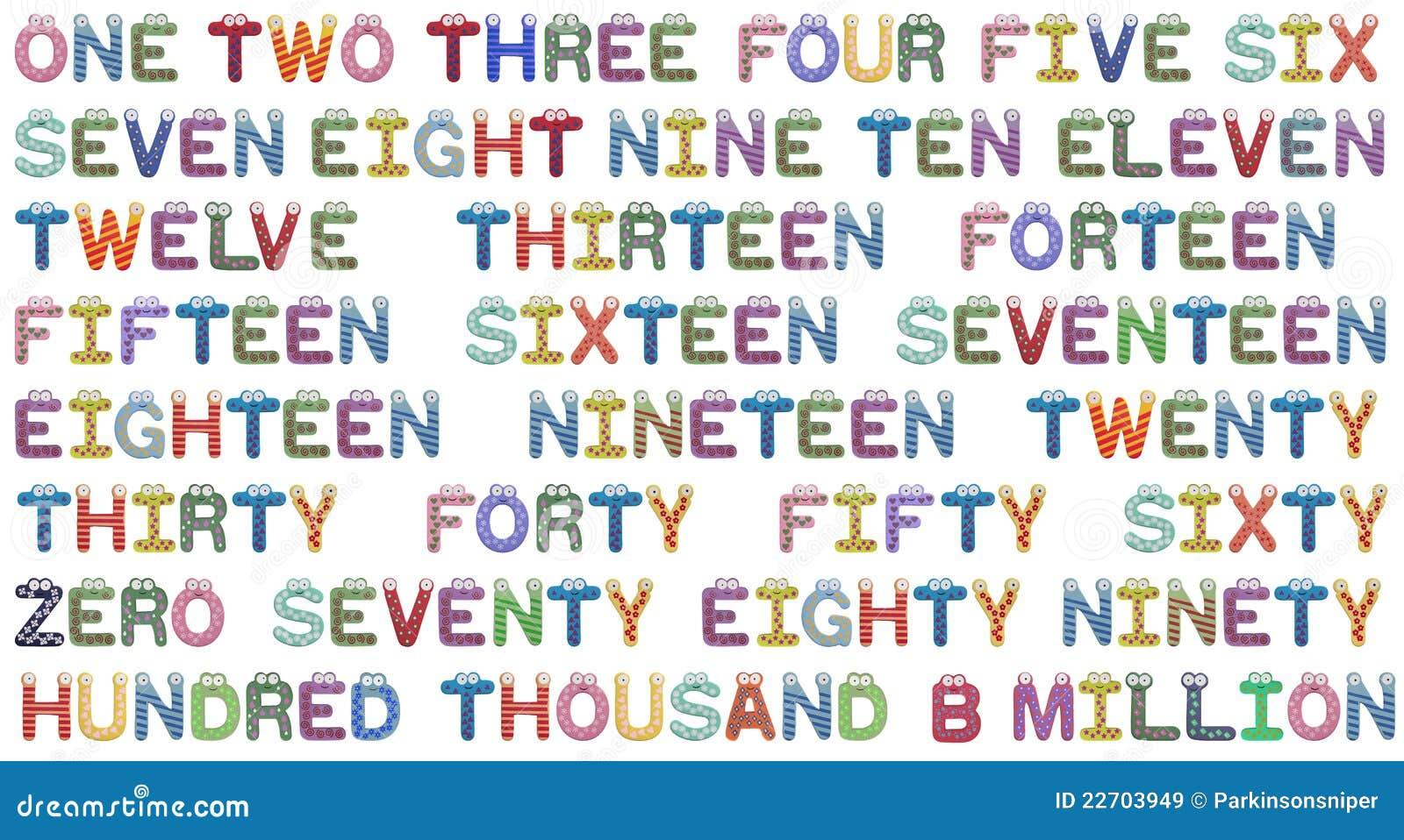 I numeri hanno impostato per i bambini immagini stock - Colore per numeri per i bambini ...