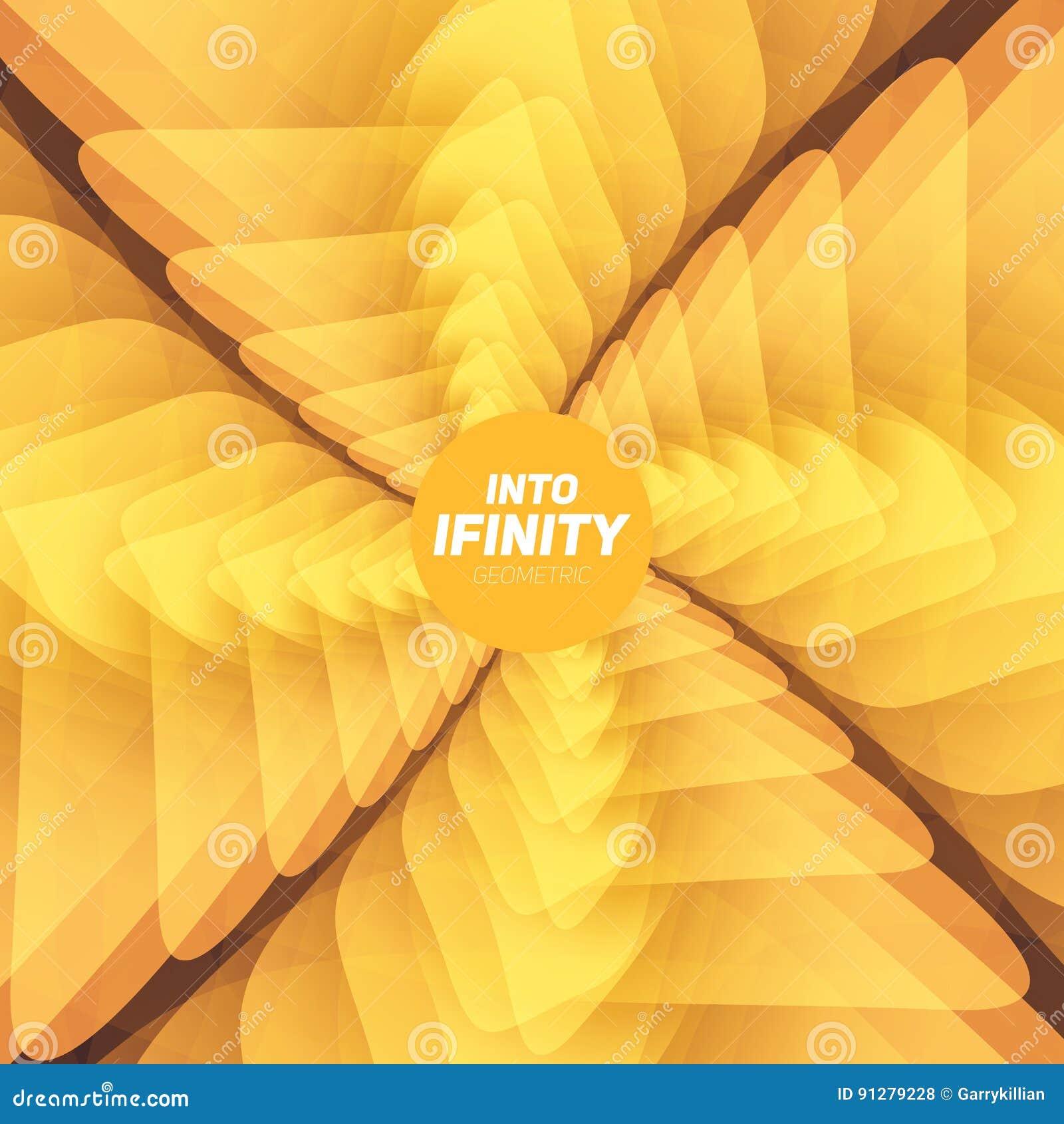 In i oändlighetsgeometri Abstrakt geometrisk koncentrisk virvelbakgrund Havsskal som strukturer