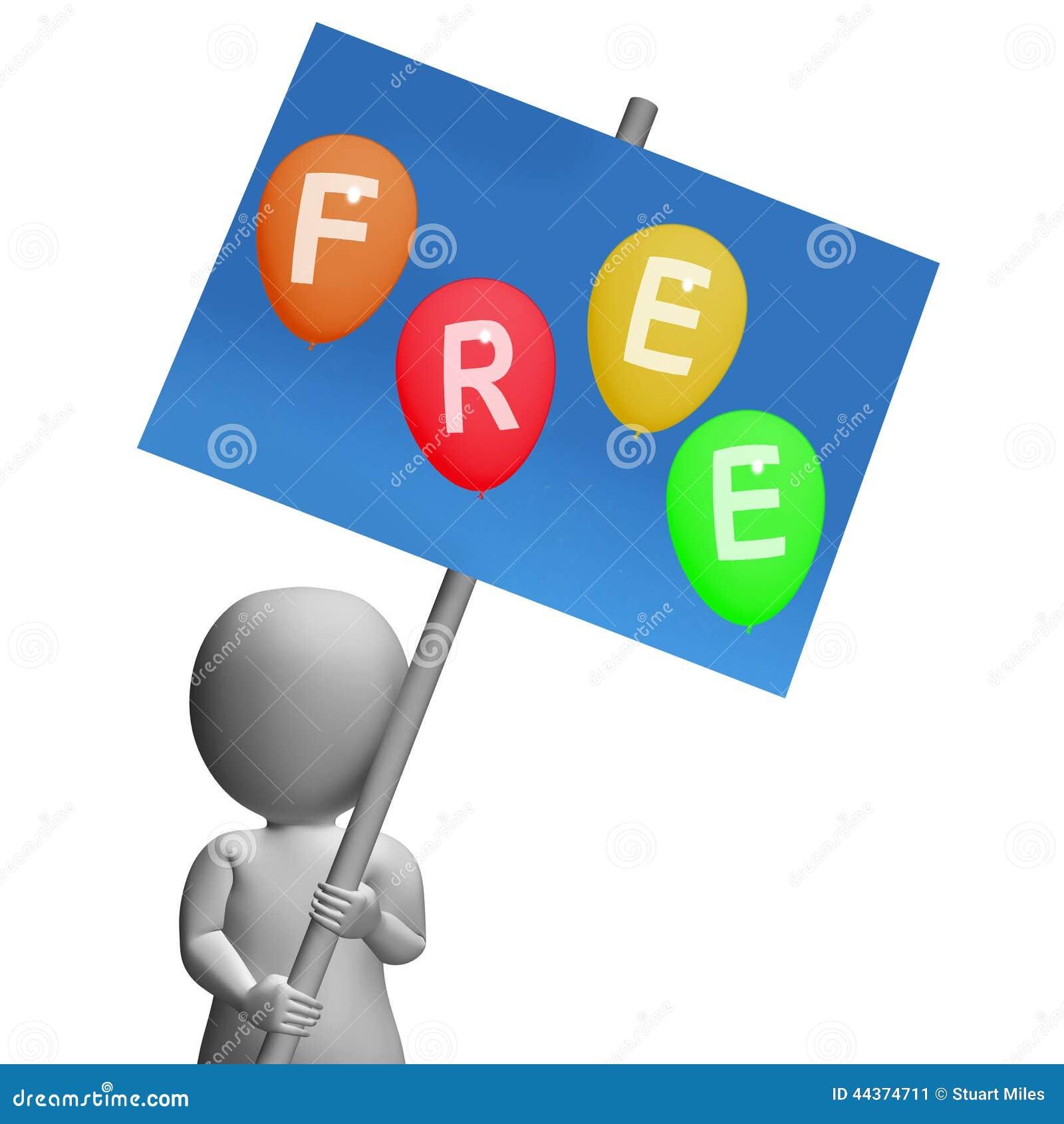 I palloni liberi del segno rappresentano gratis e nessuna tassa