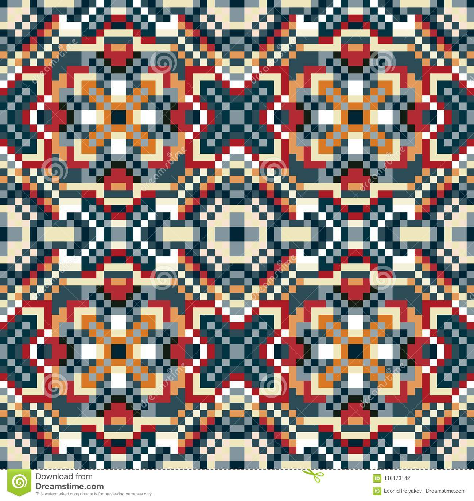 I piccoli pixel hanno colorato l illustrazione senza cuciture di vettore del modello del fondo geometrico