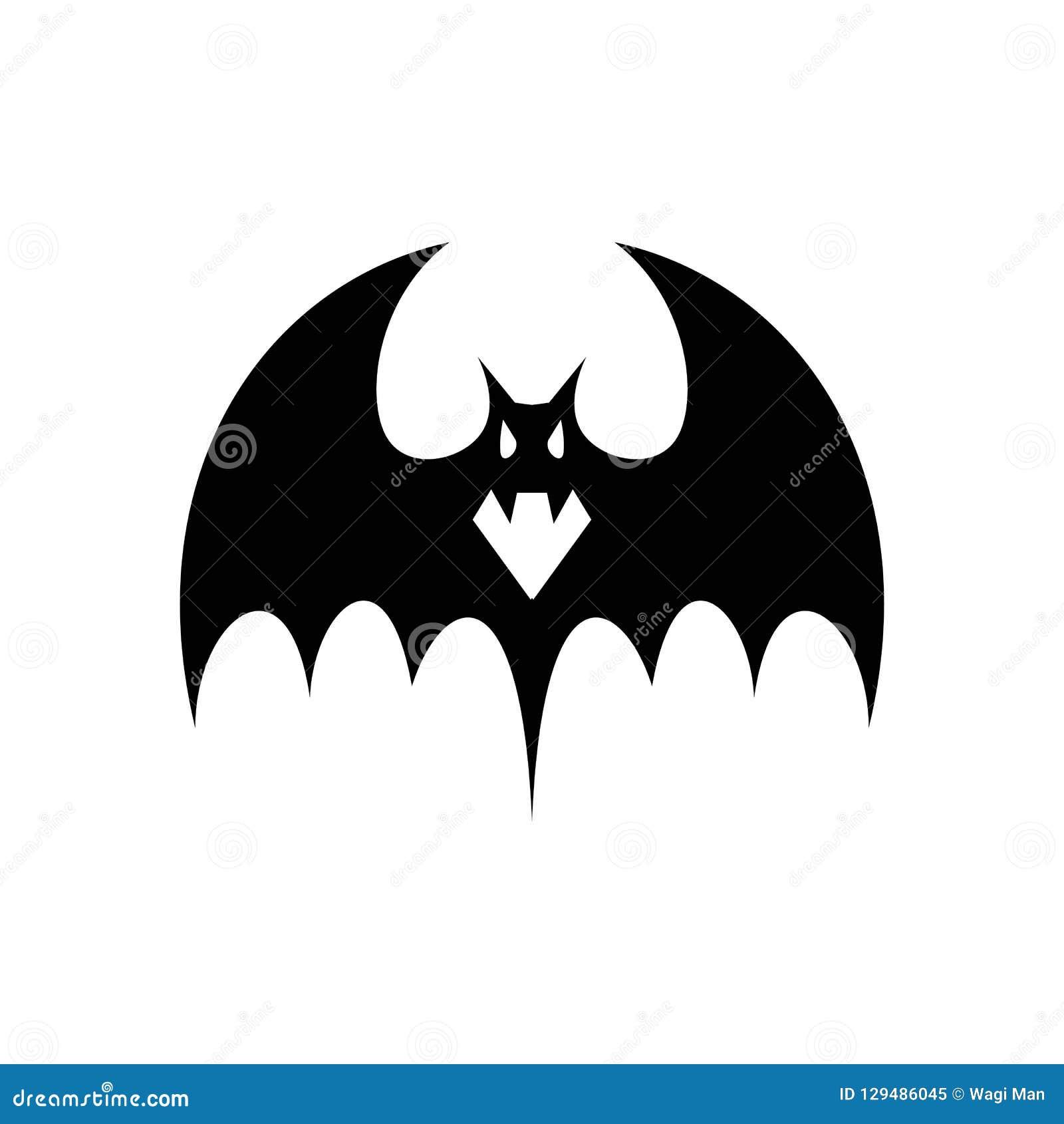 I pipistrelli spettrali, vampiri del pipistrello sono siluette semplici ma spettrali per gli attributi di Halloween