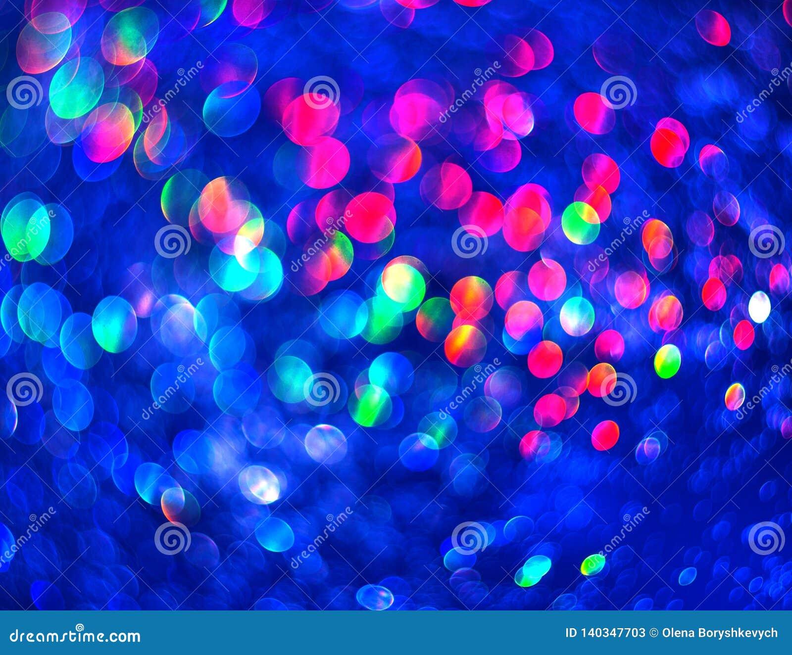 I precedenti blu unfocused di luminosità astratta