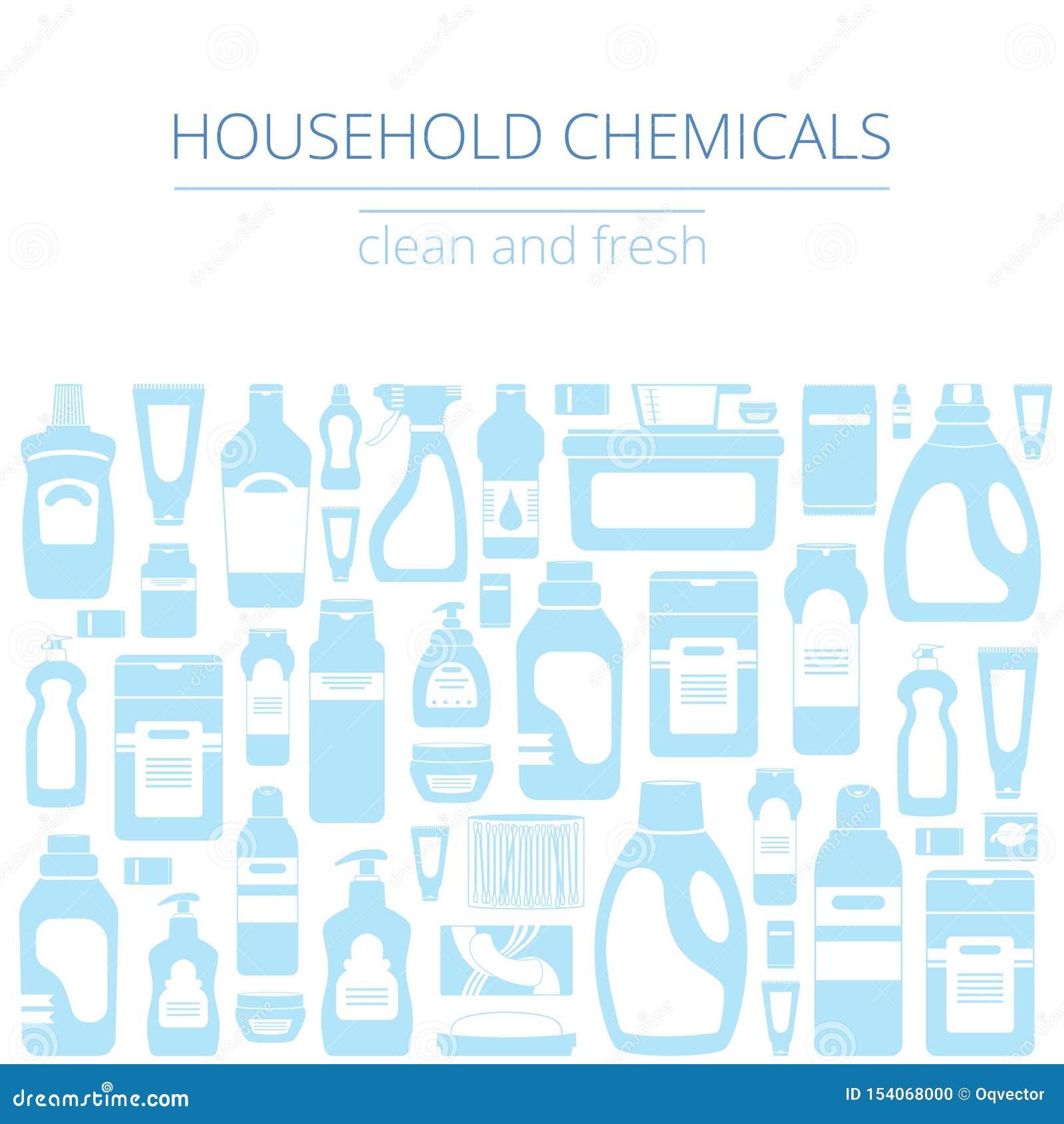 I rifornimenti di pulizia della famiglia hanno isolato l insieme delle icone Concetto grafico per i siti Web, insegna, apps mobil
