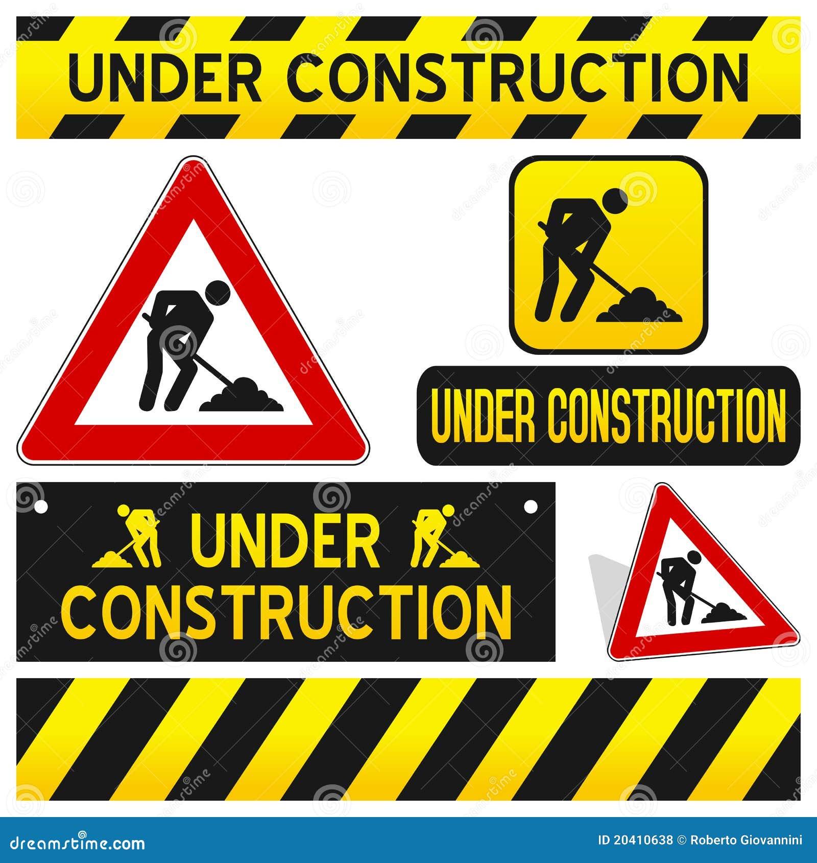 I segni in costruzione hanno impostato