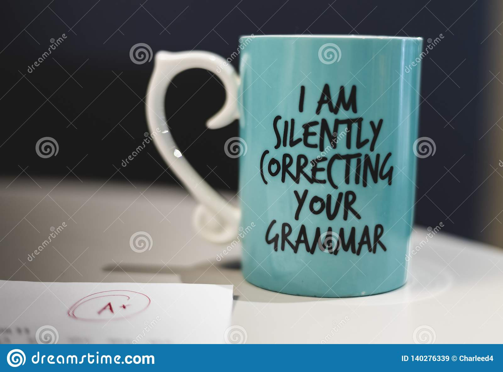 `I silently correcting your grammar` coffee mug