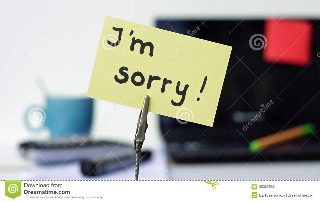 I Am Sorry At The Office Royalty Free Stock Photos Image