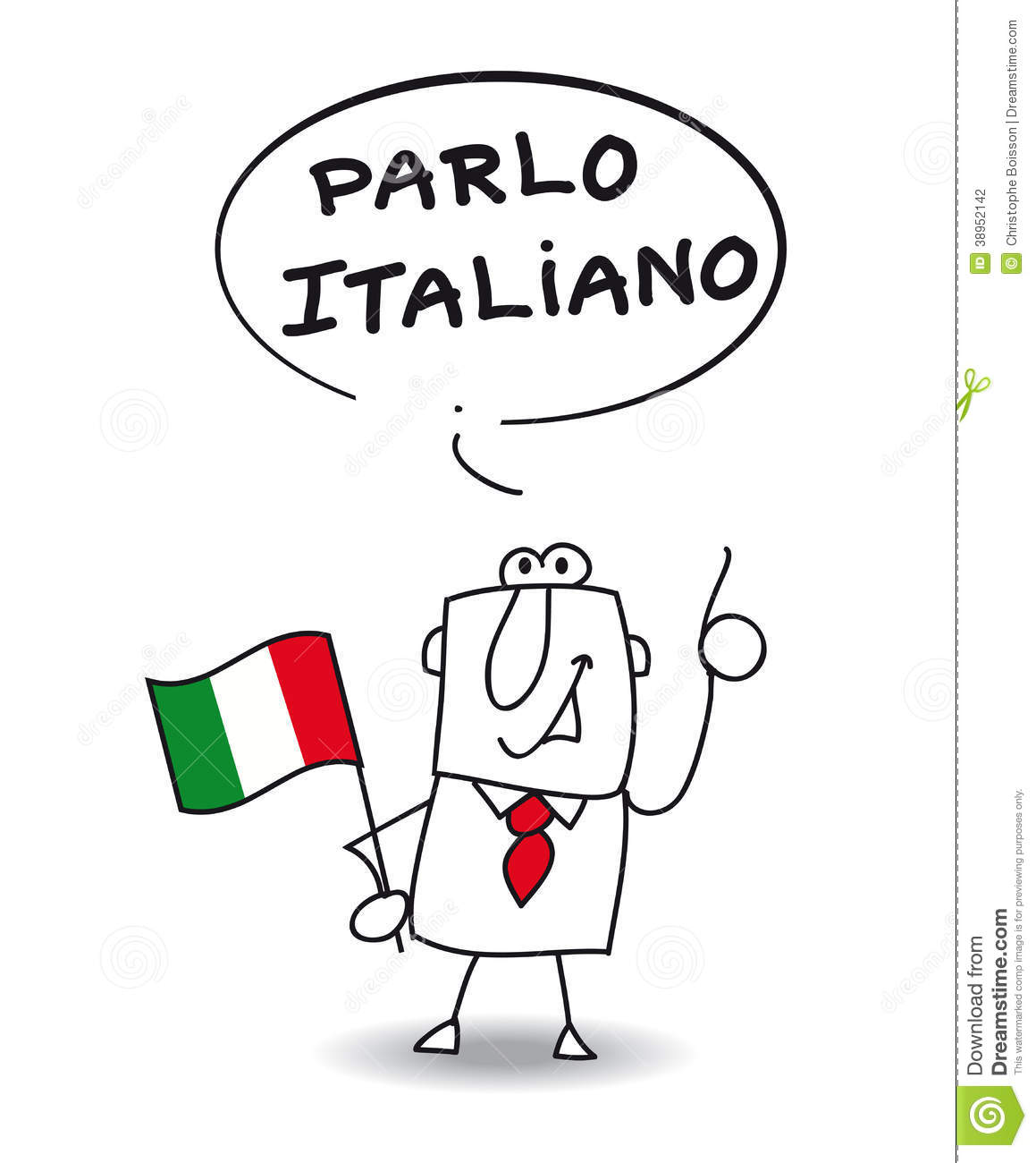 Speak Italian Stock Illustration - Image: 38952142