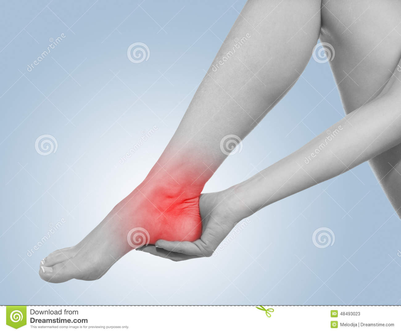 I sprained my ankle. stock image. Image of massage, joint - 48493023