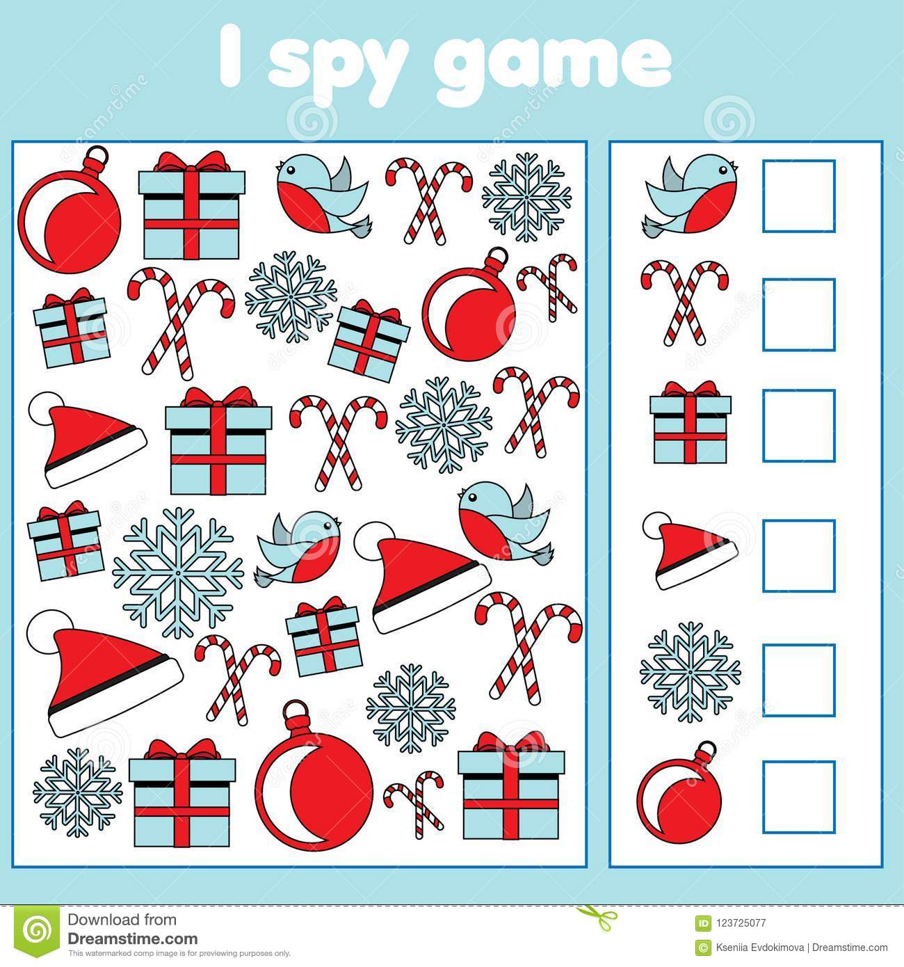 I Spy Game For Toddlers. Find And Count Objects. Counting ...