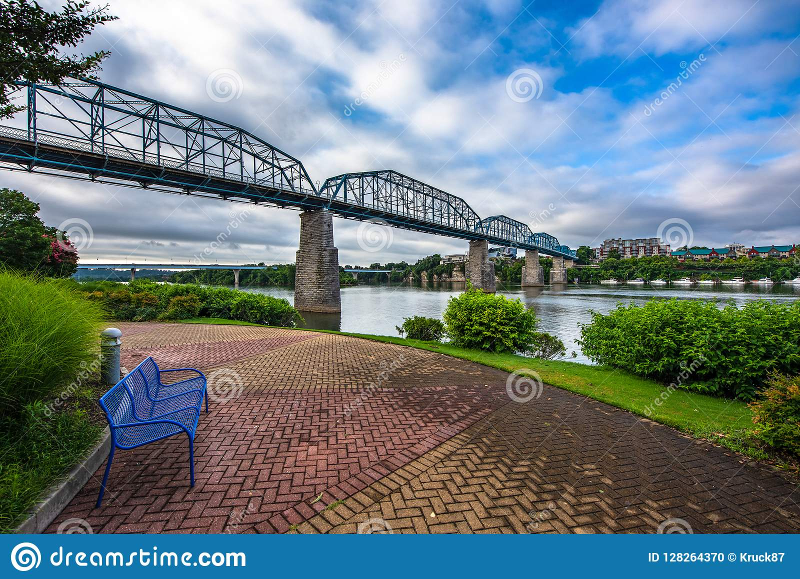 I stadens centrum Chattanooga Tennessee TN Coolidge parkerar