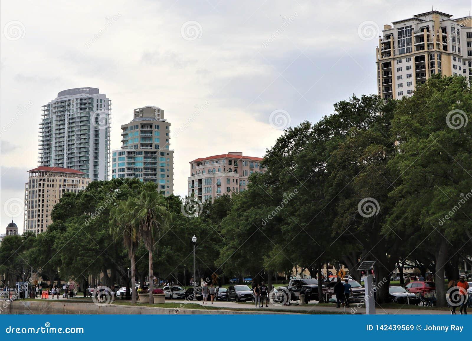 I stadens centrum horisont för st pete