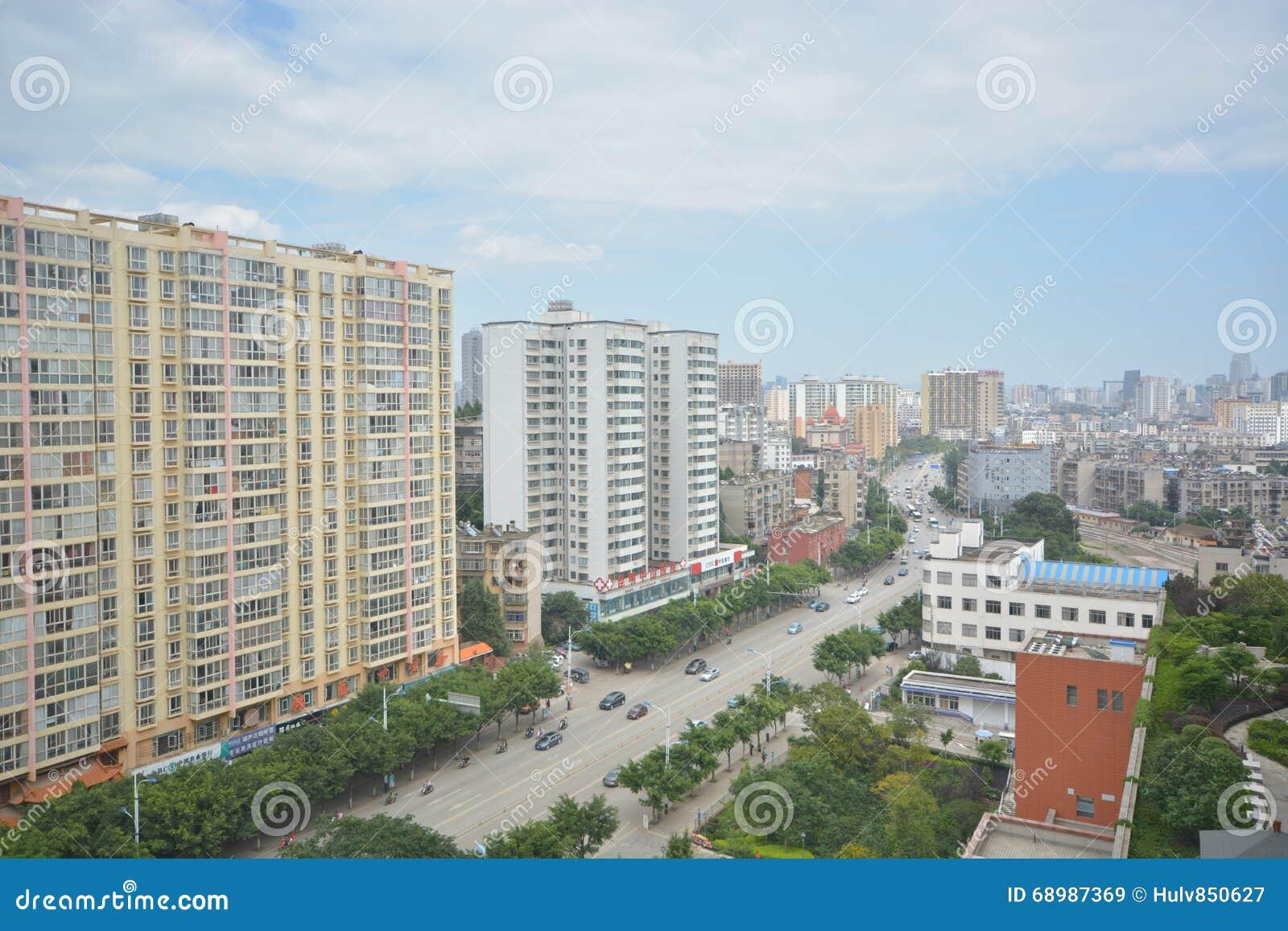 I stadens centrum Kunming,