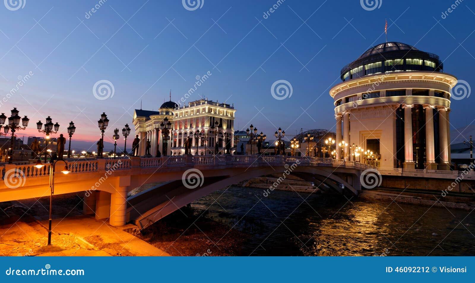 I stadens centrum Skopje