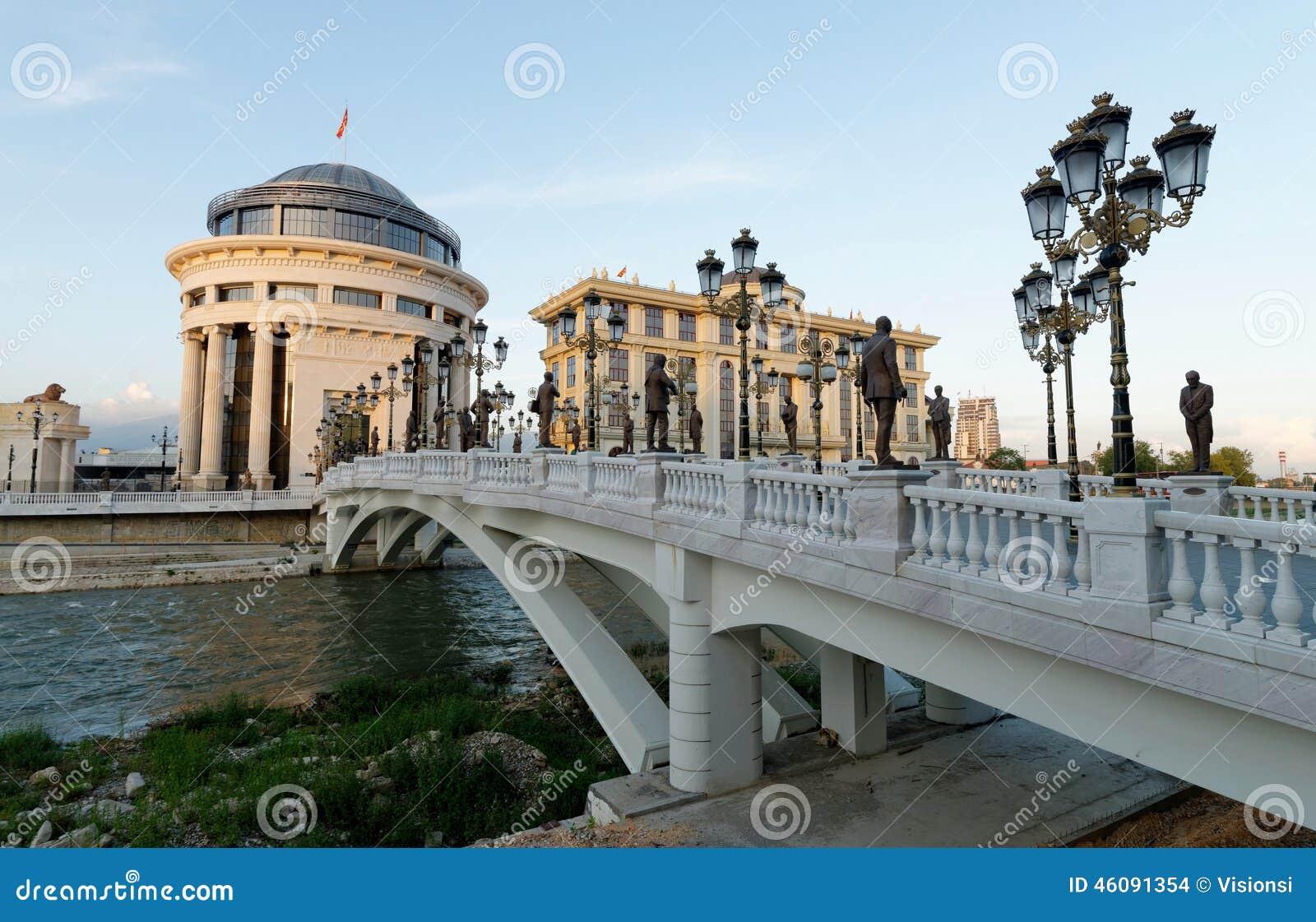 I stadens centrum Skopje, Utrikesdepartementet och den finansiella polisen