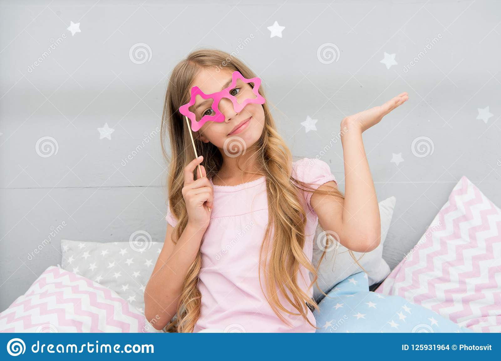 I Am Super Star Girl With Long Blonde Curly Hair Posing Photo Booth