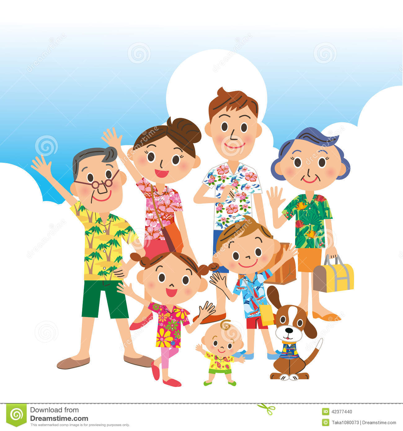 I Travel In Good Friend Families Stock Vector - Image ...