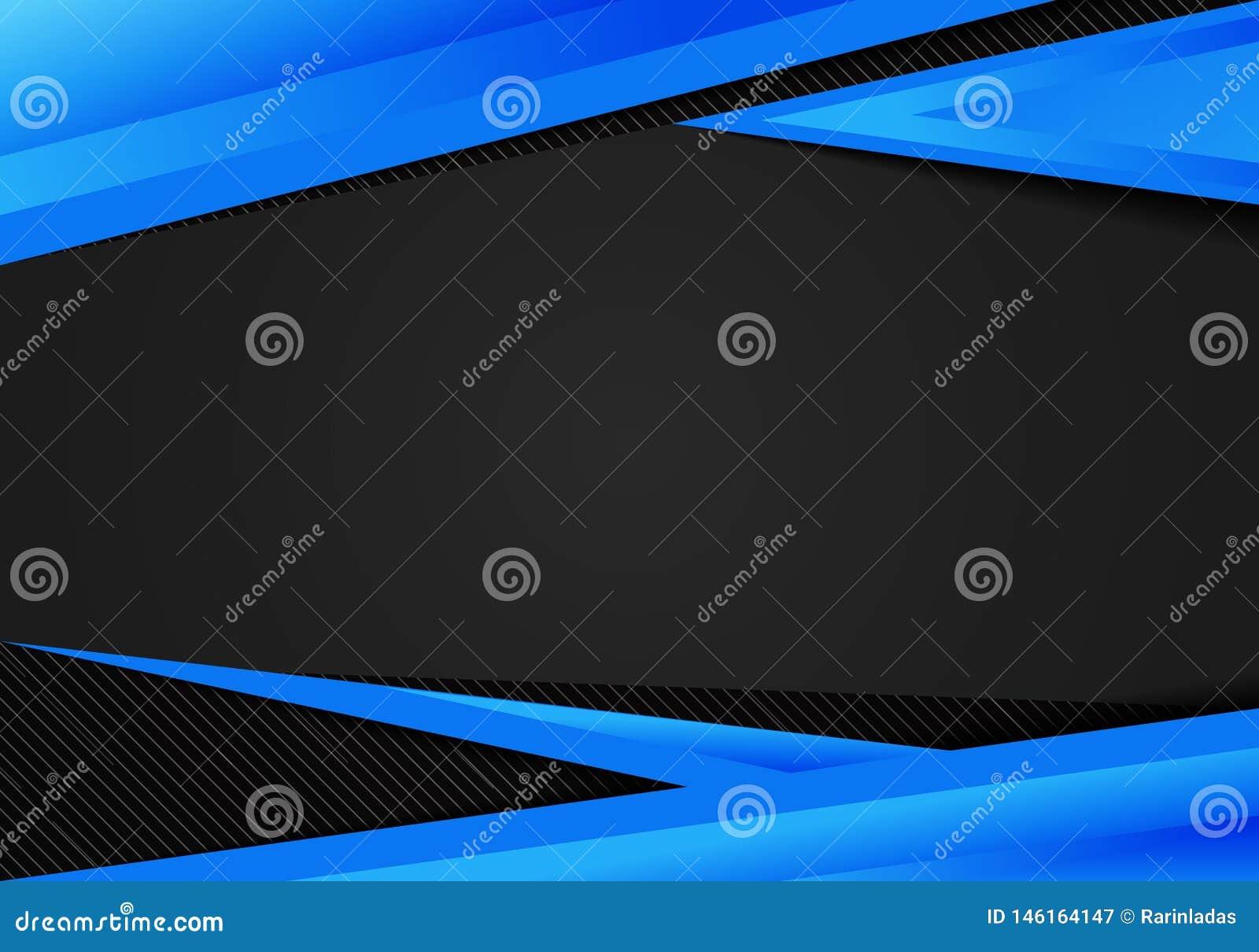 I triangoli geometrici blu del modello dell estratto contrappongono il fondo nero Potete usare per progettazione corporativa, opu