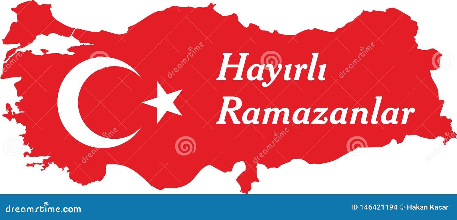 I turco felici del Ramadan parlano: Hayirli ramazanlar