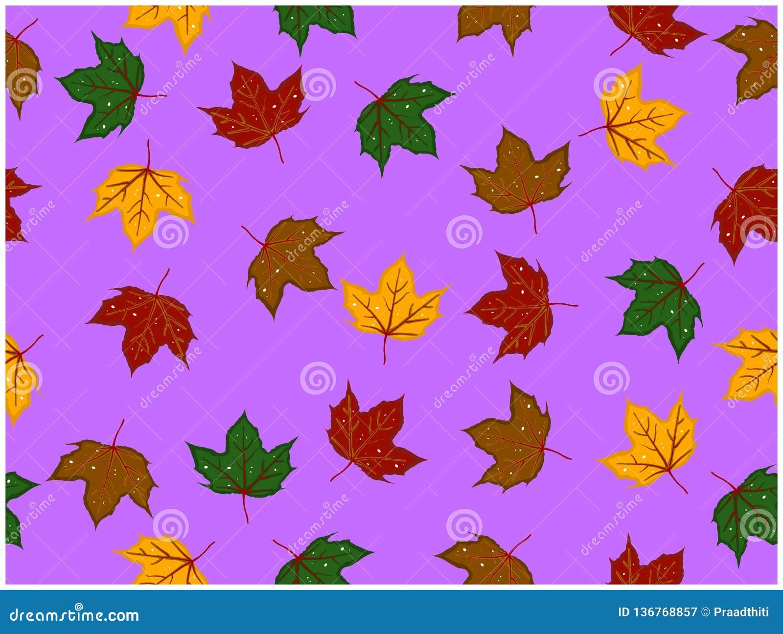 I vari colori delle foglie progettate hanno alcuni fori