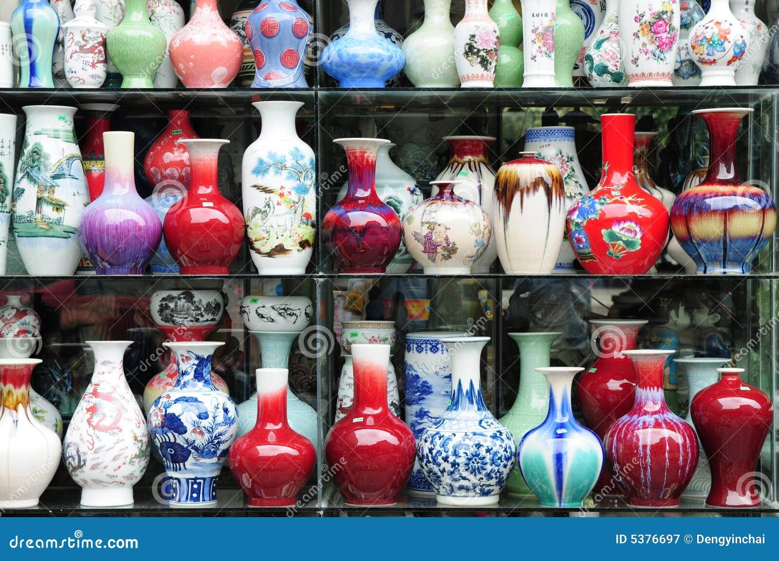 I vasi di ceramica cinesi immagine stock immagine di arte for Vasi cinesi prezzi