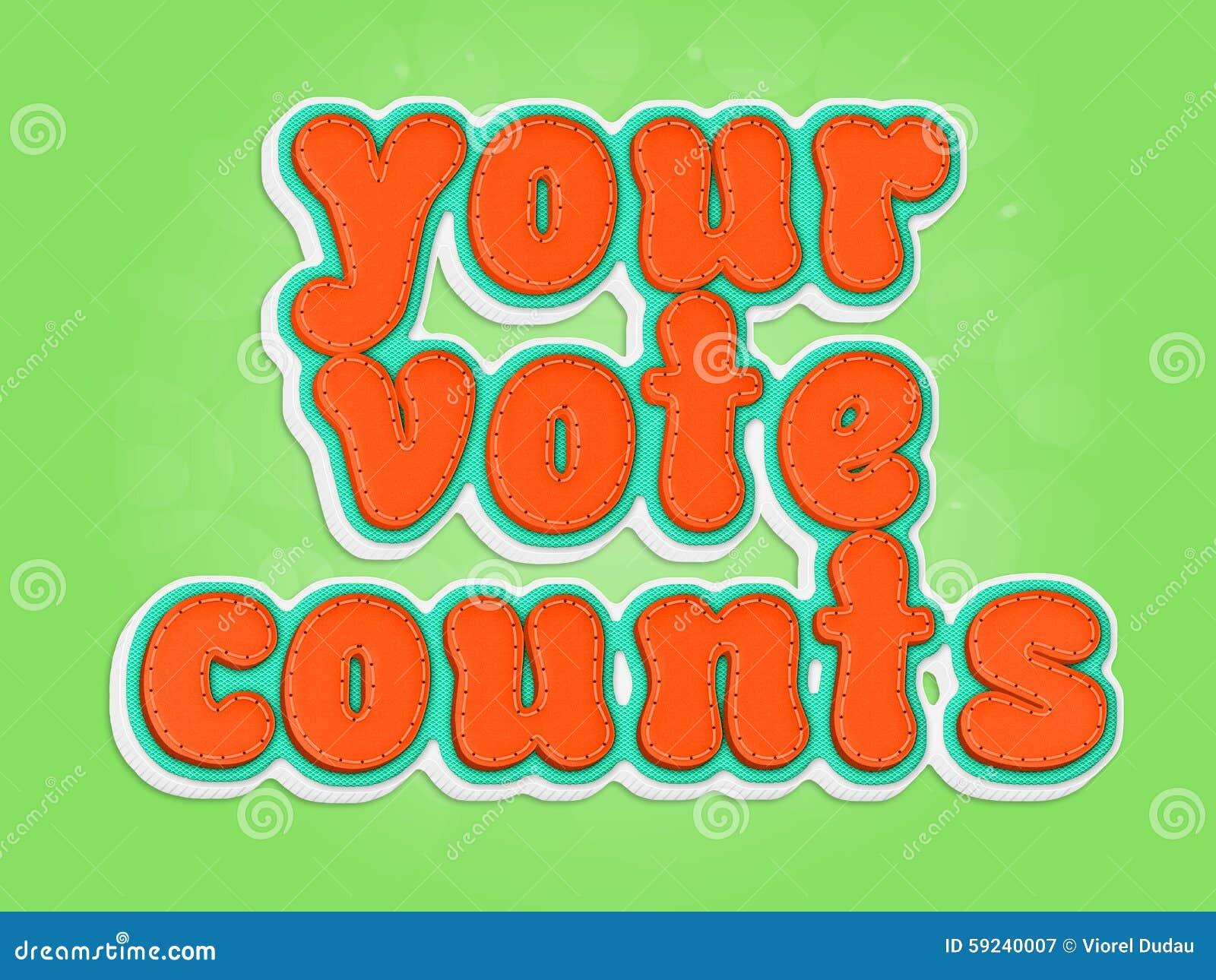 I vostri conteggi di voto