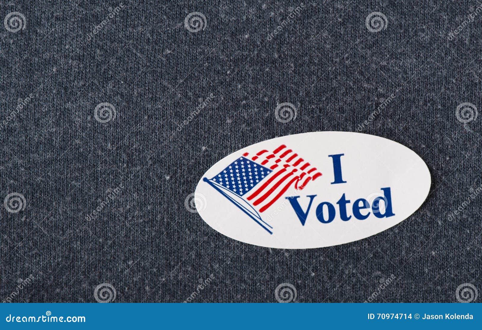 I voted sticker - closeup