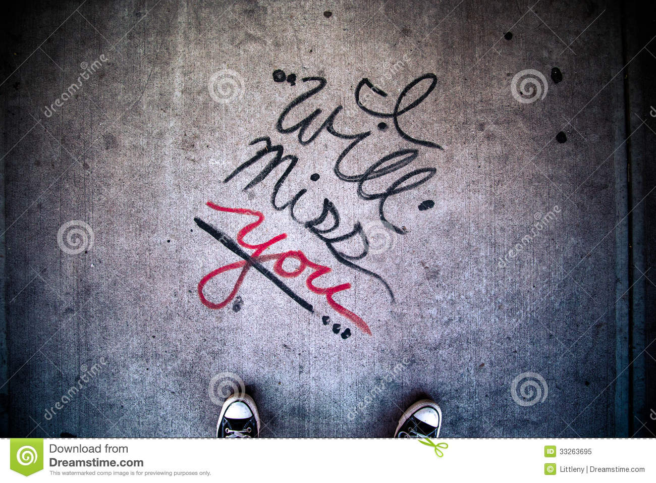 I Will Miss You stock image  Image of over, gone, script